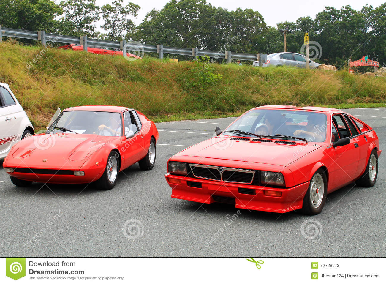 Classic lancia scorpion sports car fiat Lombardi grand prix sports car