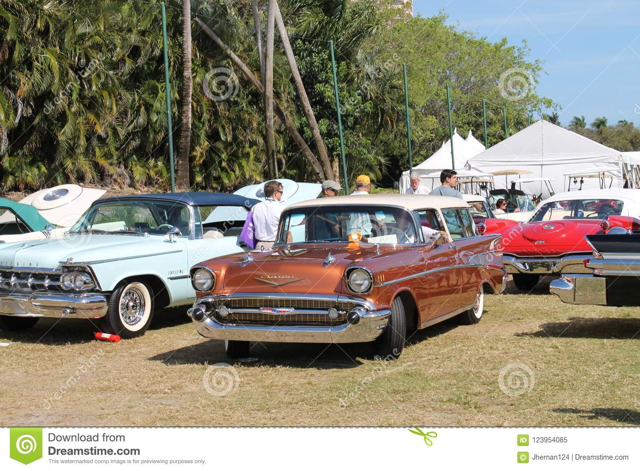 Classic American Cars At A Car Show In Florida Editorial Image - Boca raton car show