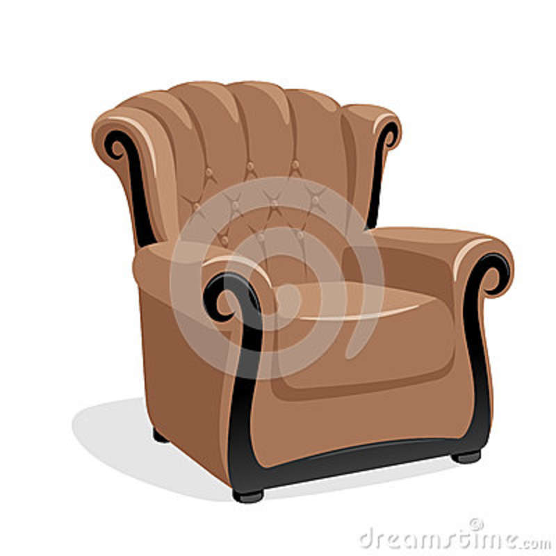 Soft Sofa For Living Room Icon, Cartoon Style Cartoon