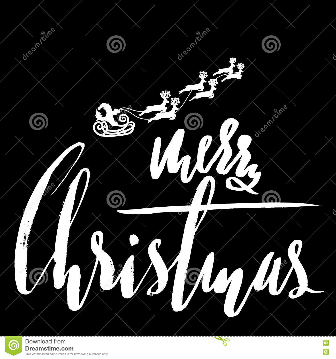 Classic Lettering Design For A Christmas Greetings Santa Claus