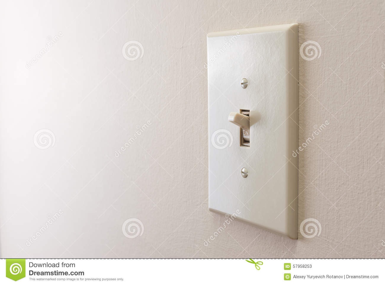 Classic Light Switch Stock Image Image Of Activate Button 57958253