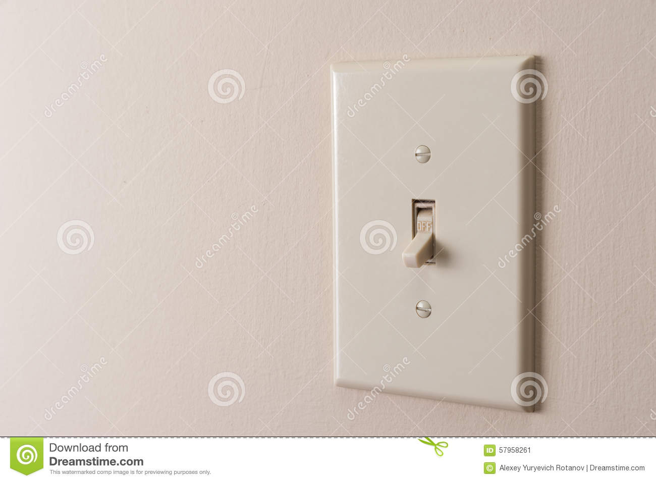 Classic Light Switch Stock Image Image Of Environment 57958261