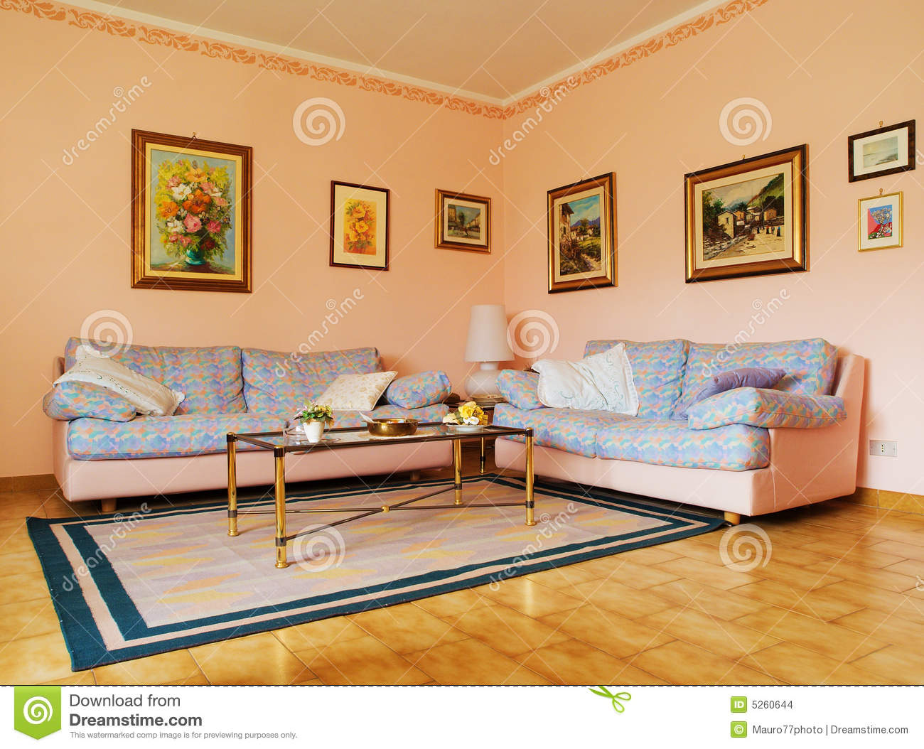 Classic Living Room Stock Images Image 5260644