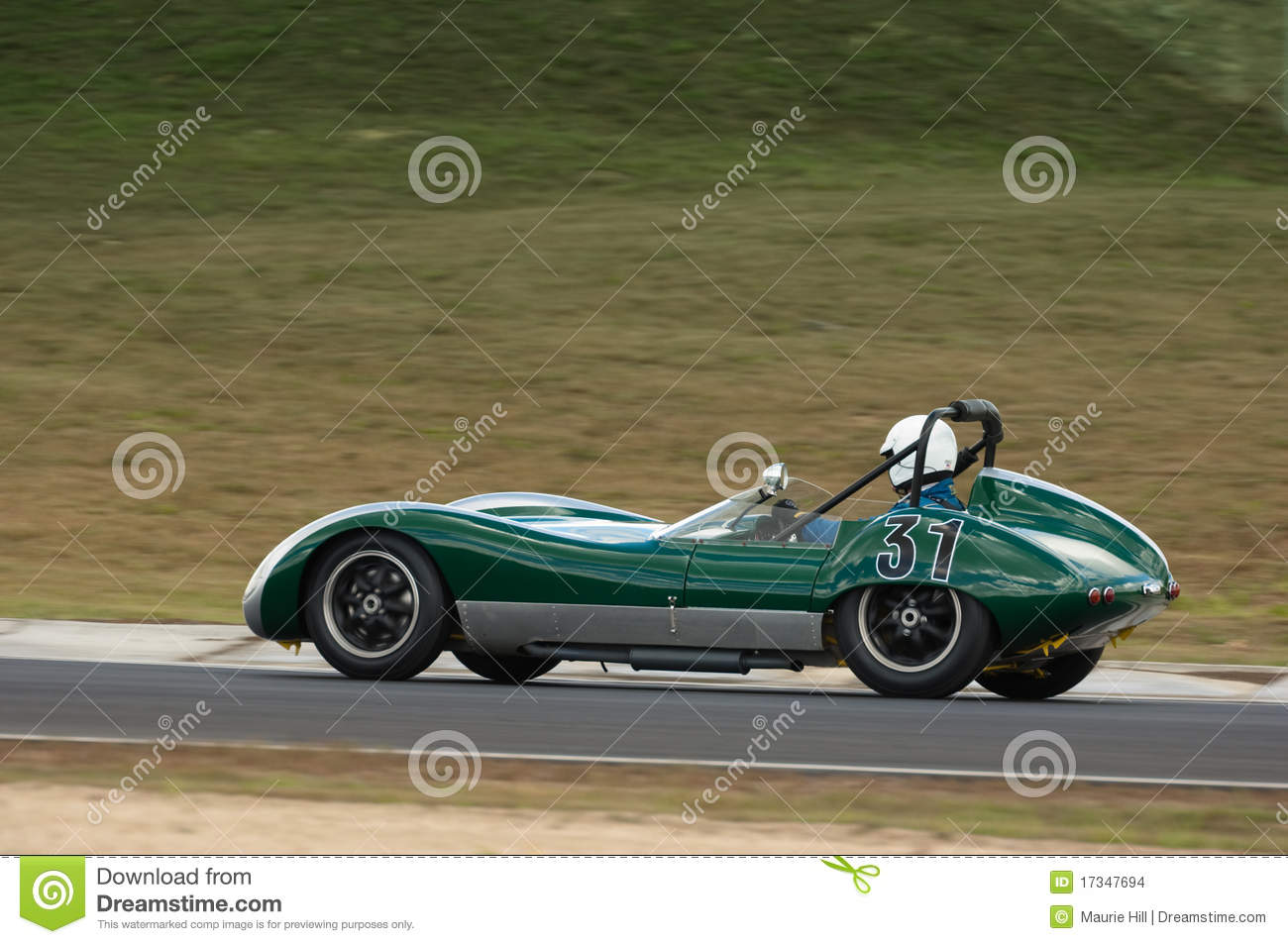 Classic Lola Mk1 Racing Car At Speed Editorial Stock Image - Image ...
