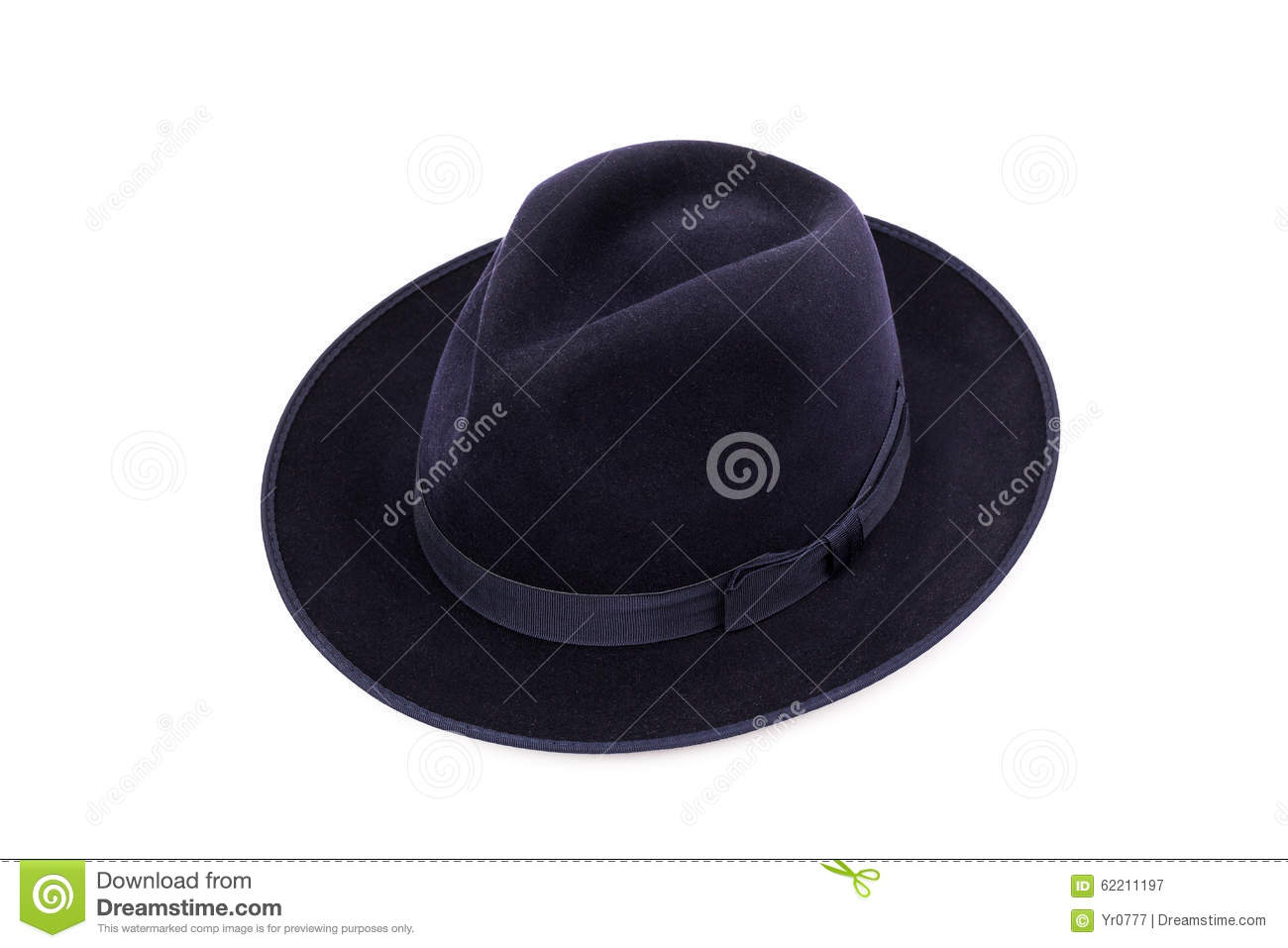d7956175d06044 Classic Low Crown Fedora Hat Dark Blue Color Stock Image - Image of ...