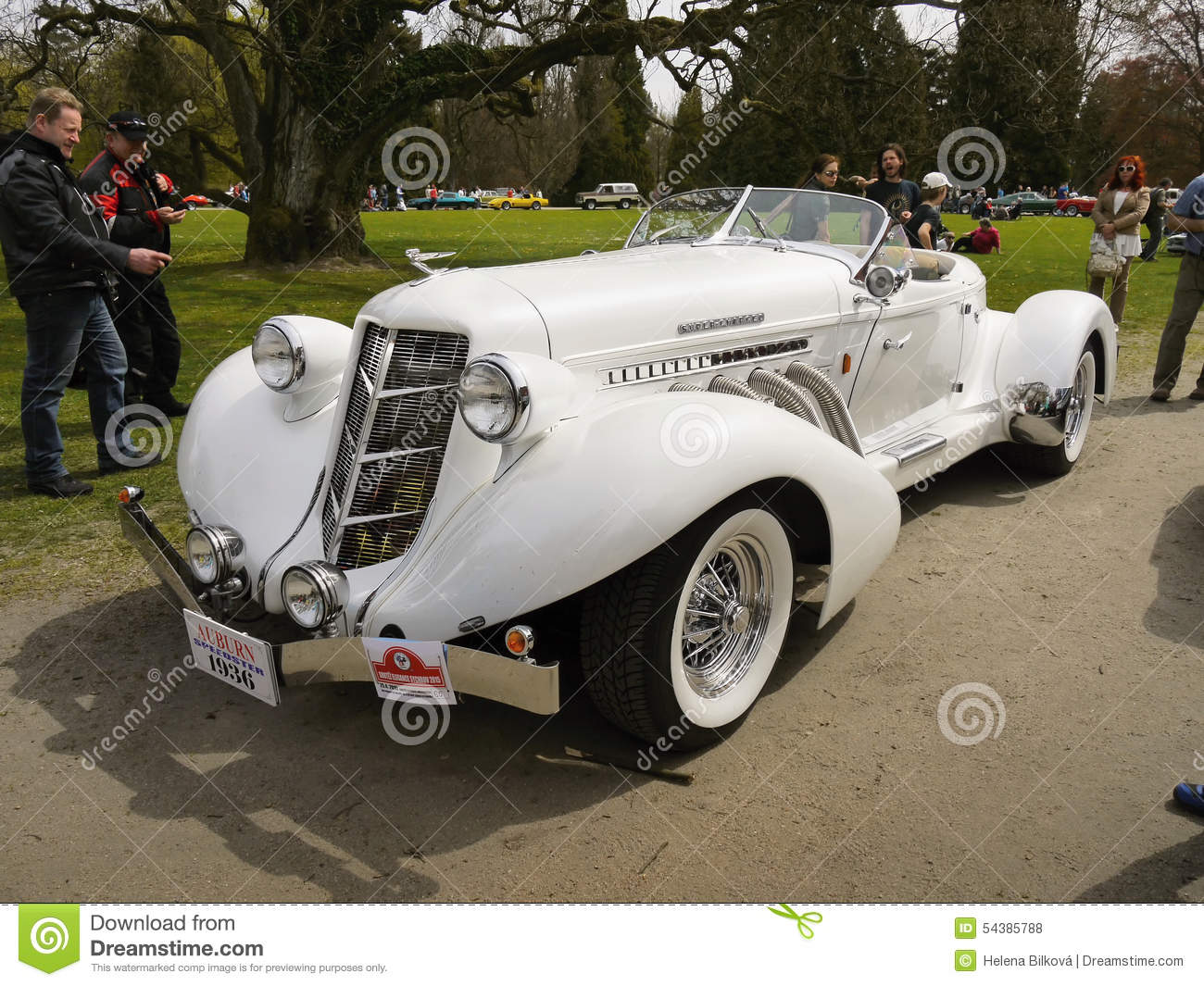 Classic Luxury Cars, Auburn Speedster Replica Editorial Stock Photo ...