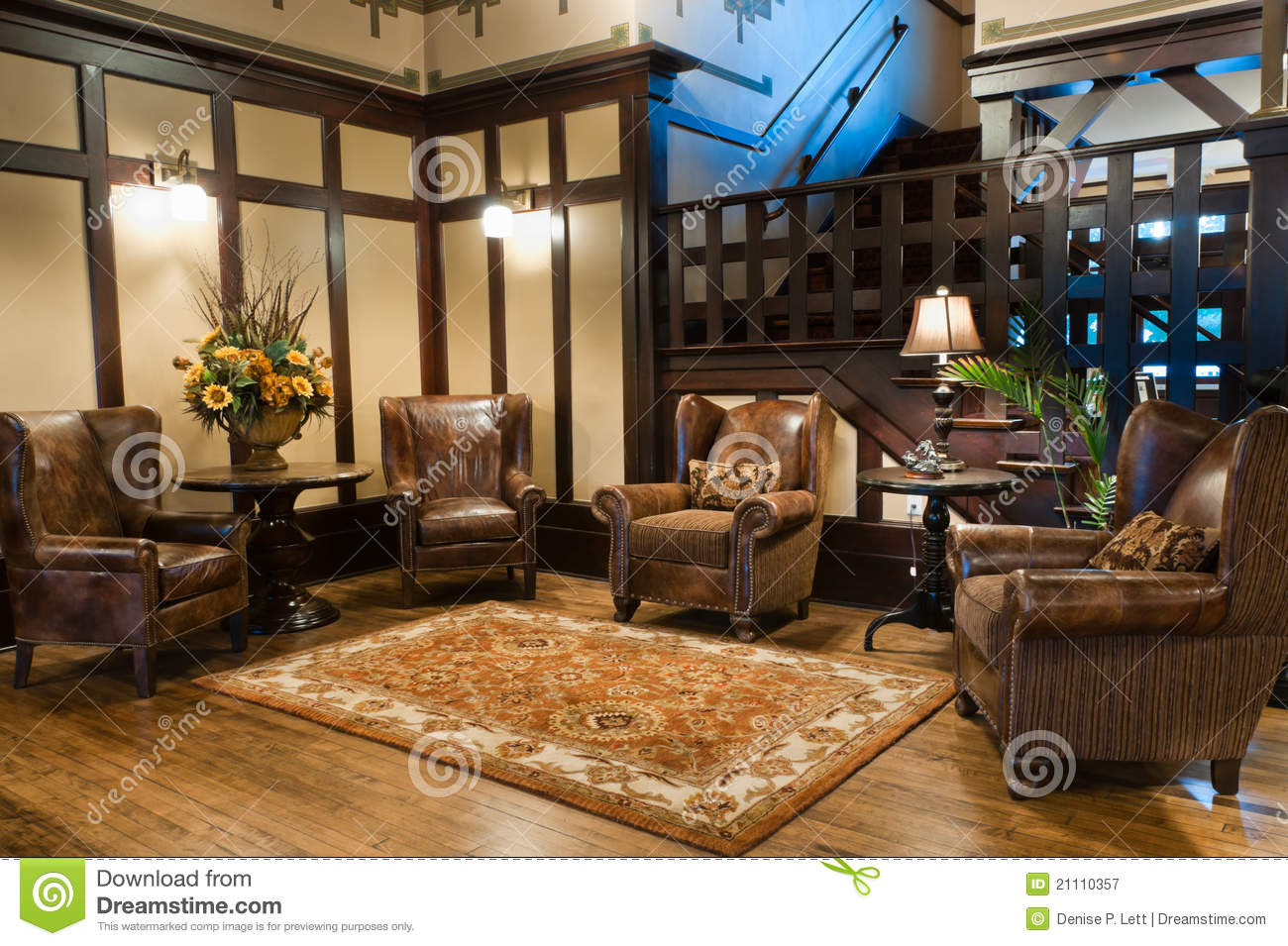 Classic Luxury Hotel Lobby Stock Image Image Of Floor