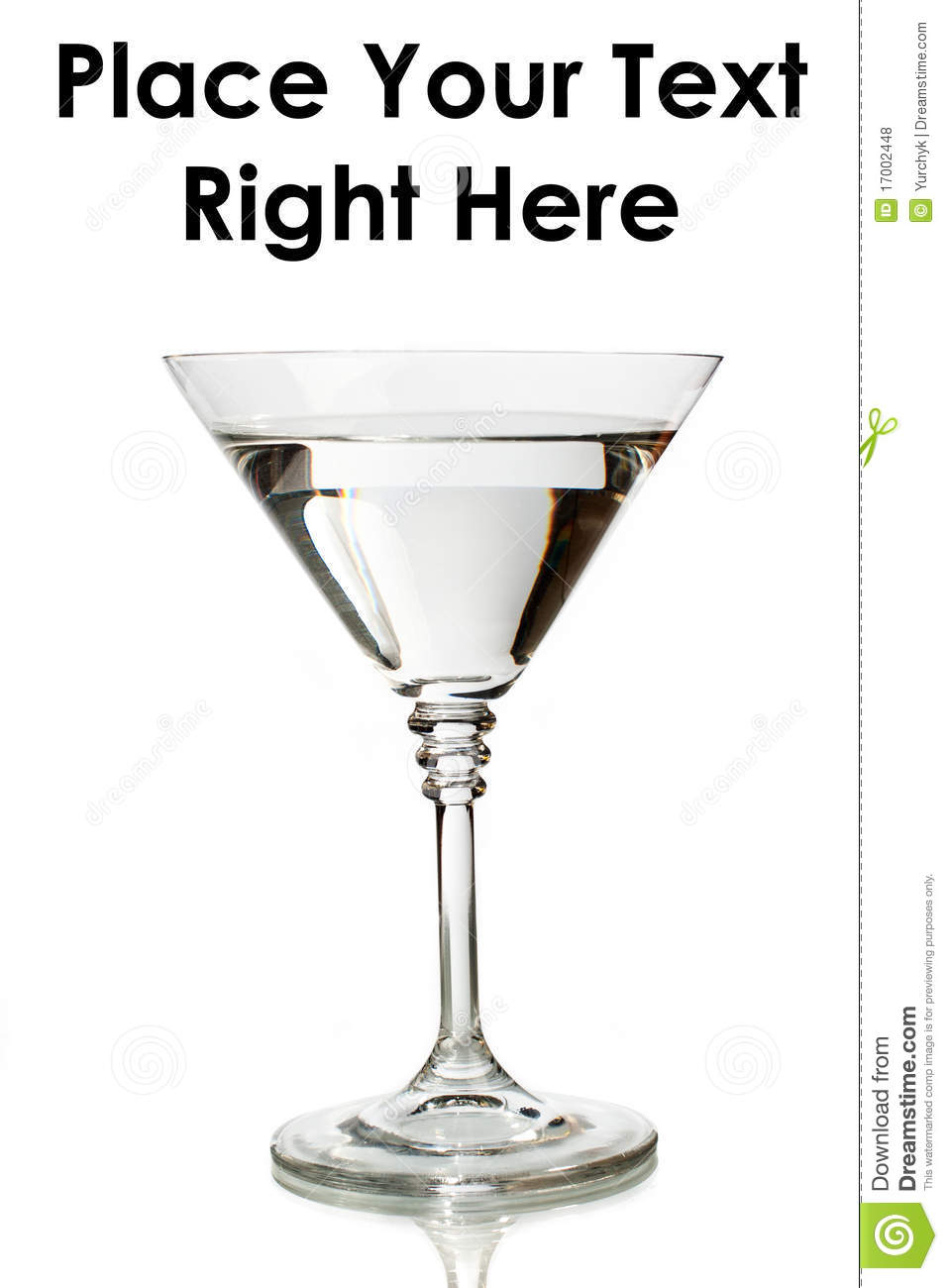 Classic Martini Glass Filled With Clear Drink Royalty Free Stock ...