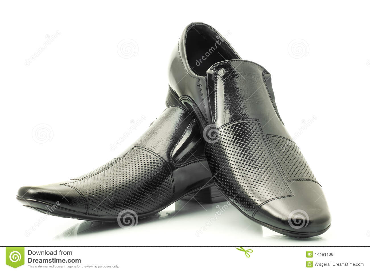Classic Men's patent-leather shoes isolated over white background