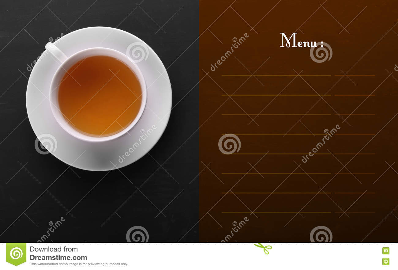Menu list design with copy space for text cartoon vector for Copy design