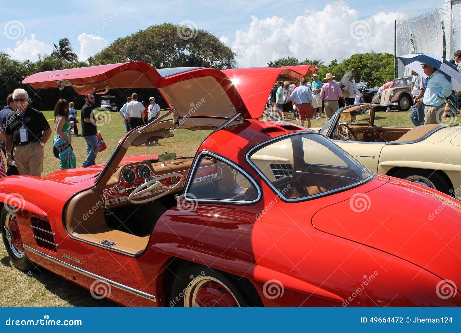 Classic Mercedes Super Sports Car And Cabin Editorial