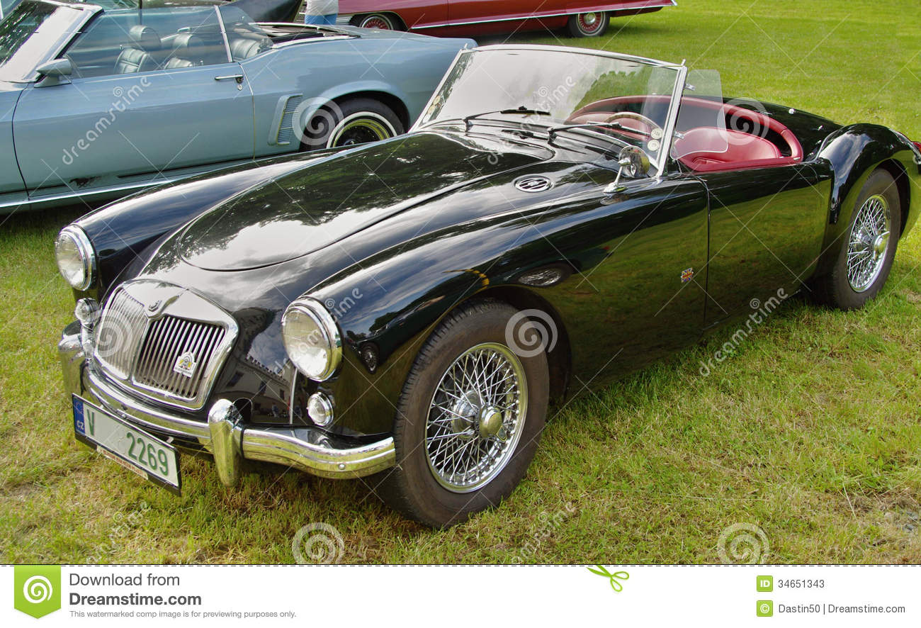 Classic Mg Sports Car Editorial Stock Photo Image