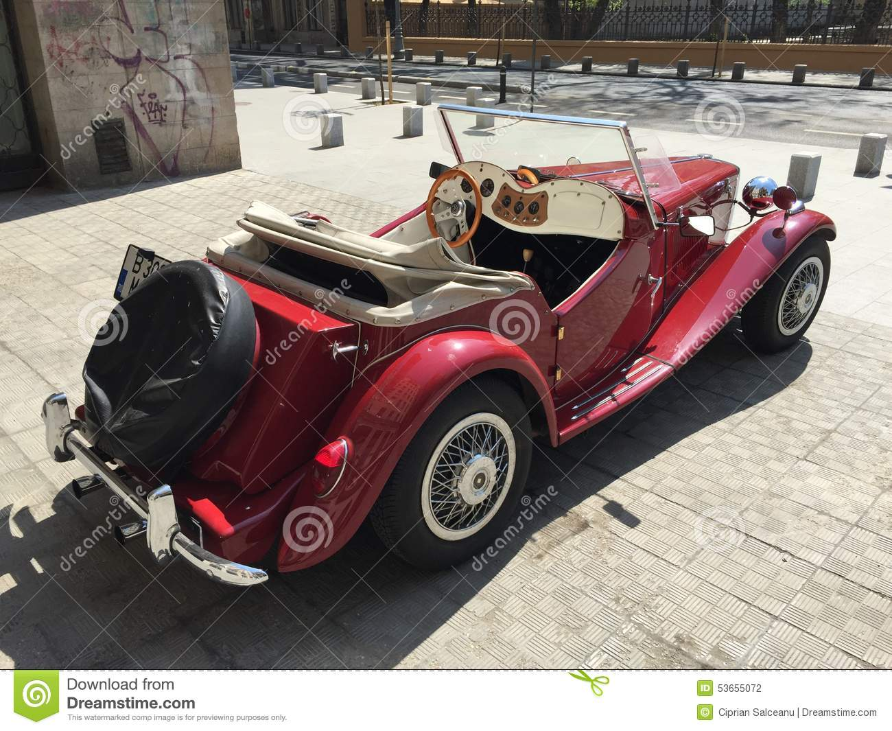 Classic Mg Sports Car Editorial Photography Image 53655072