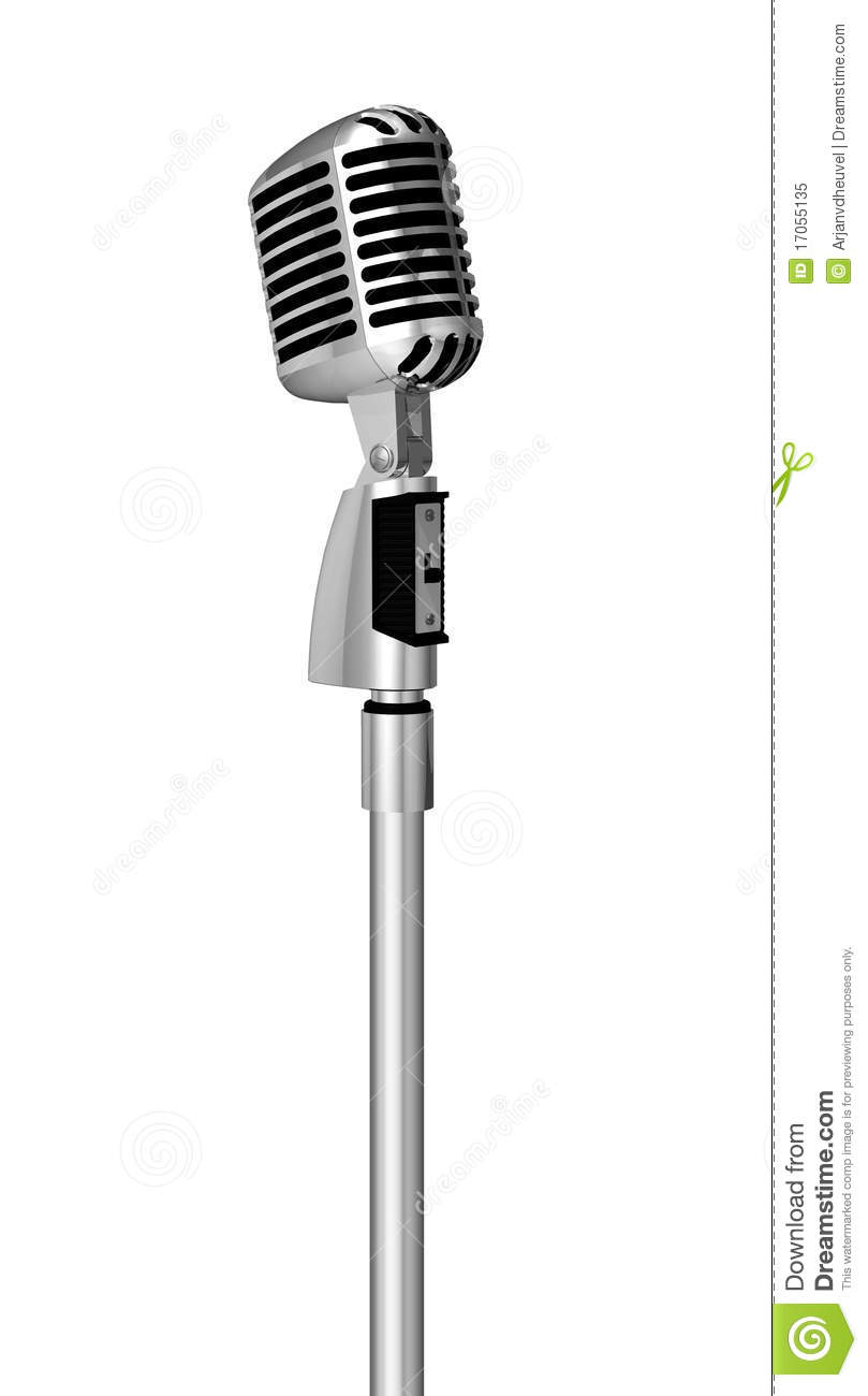 Classic microphone on pole
