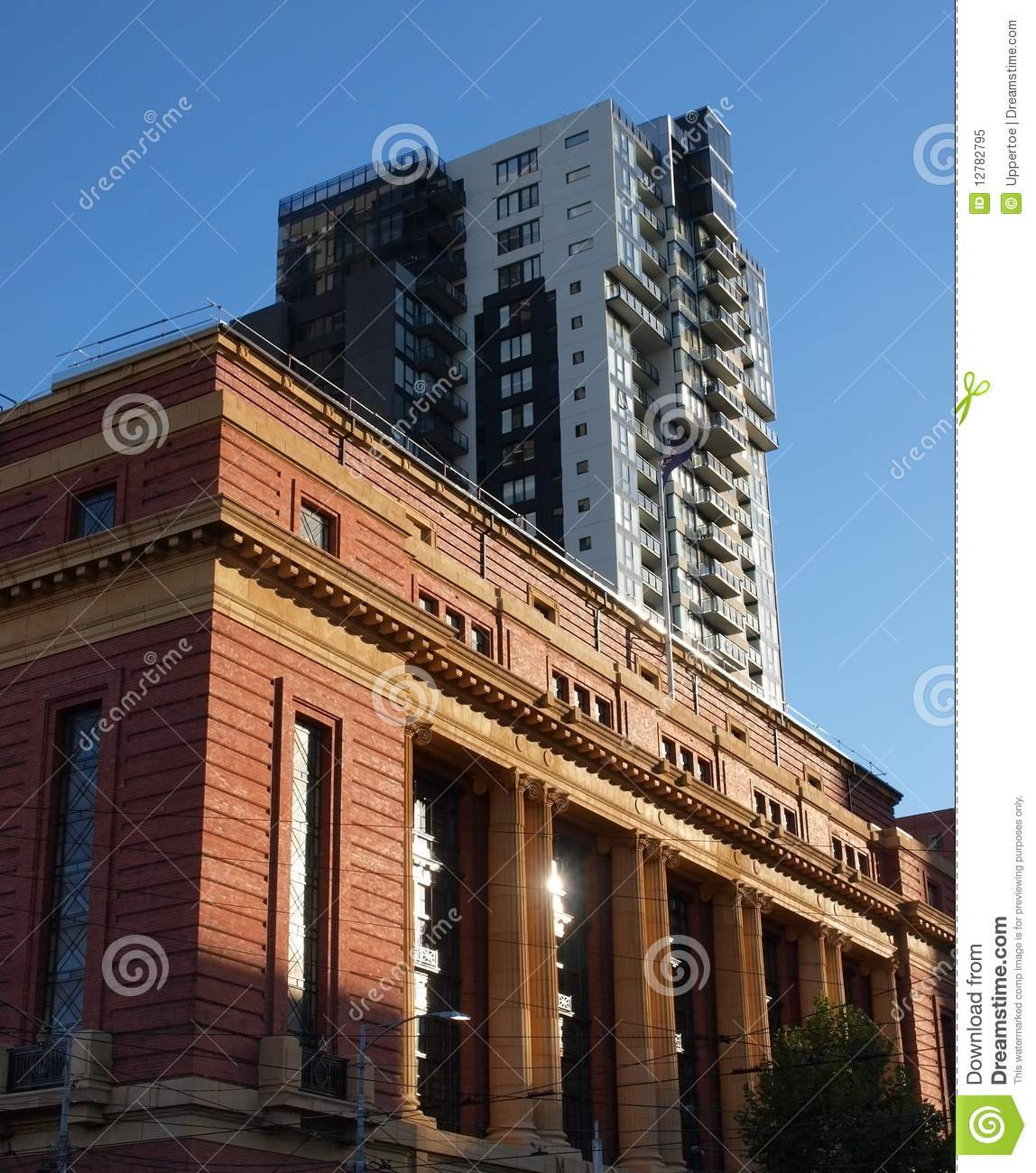 Modern Architecture Melbourne classic and modern architecture in melbourne royalty free stock