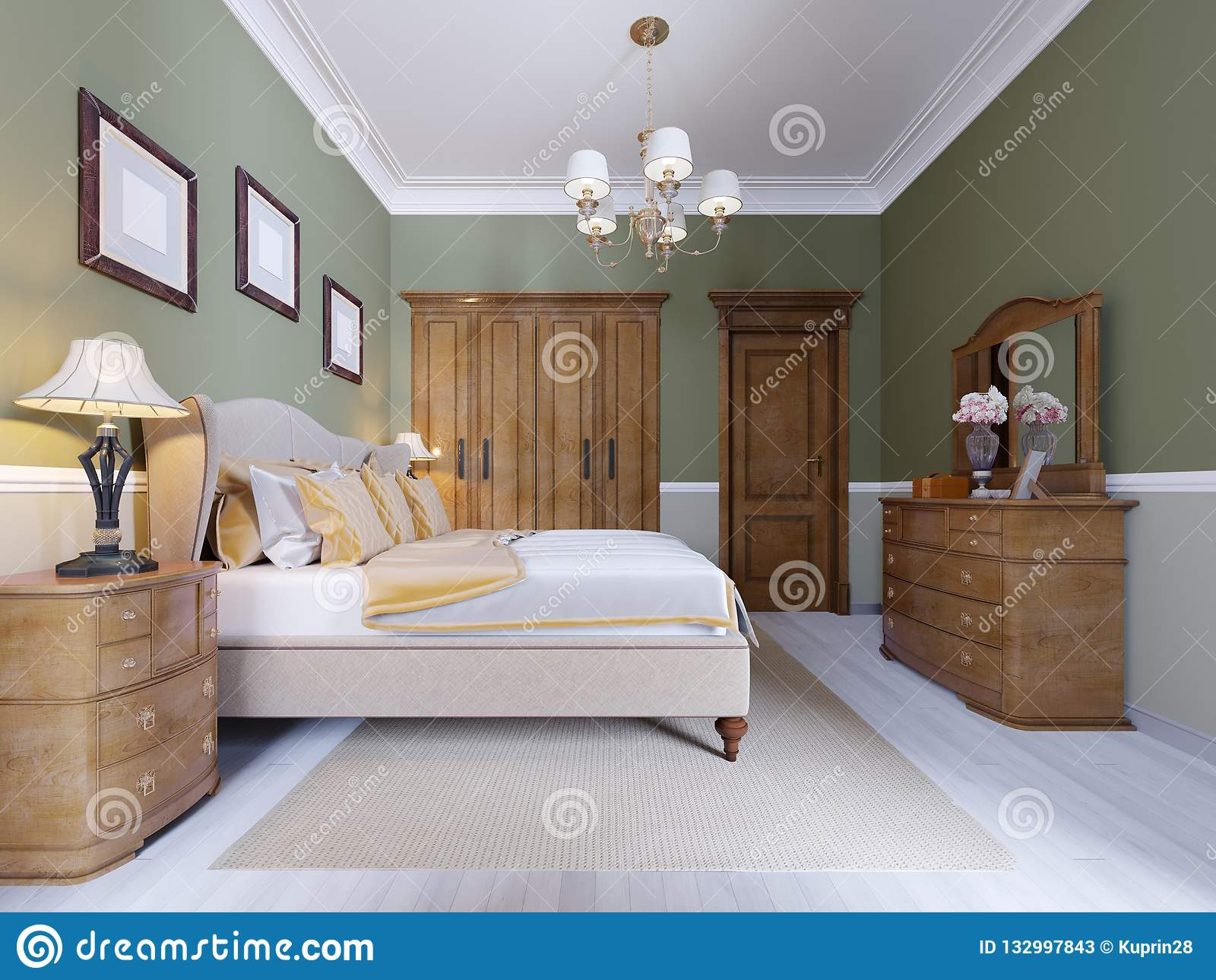 Fine Classic Modern Bedroom With Olive Walls Large Window And Download Free Architecture Designs Scobabritishbridgeorg
