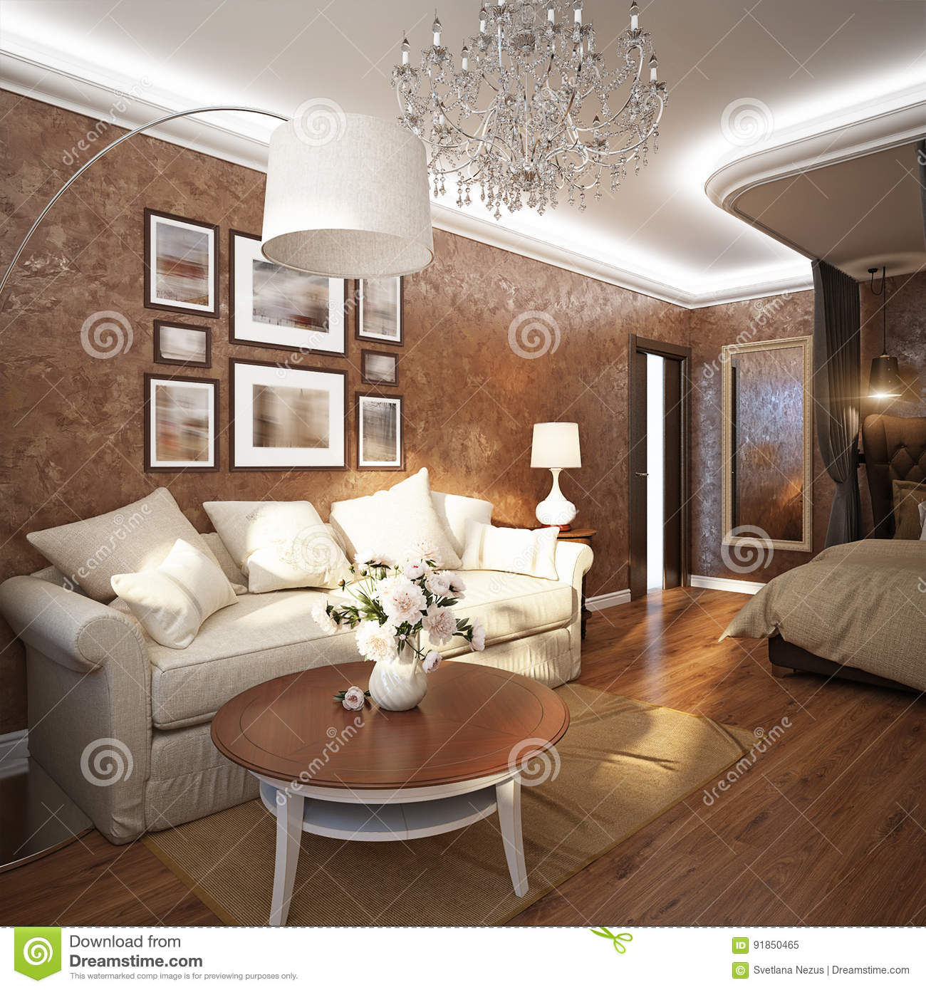 Classic Modern Room Home Office, Living Room Or Bedroom