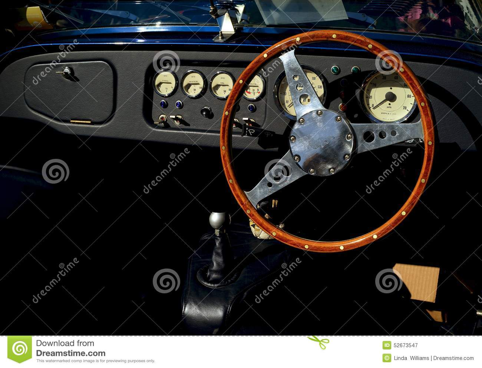 classic morgan automobile interior editorial photography image of dashboard shift 52673547. Black Bedroom Furniture Sets. Home Design Ideas