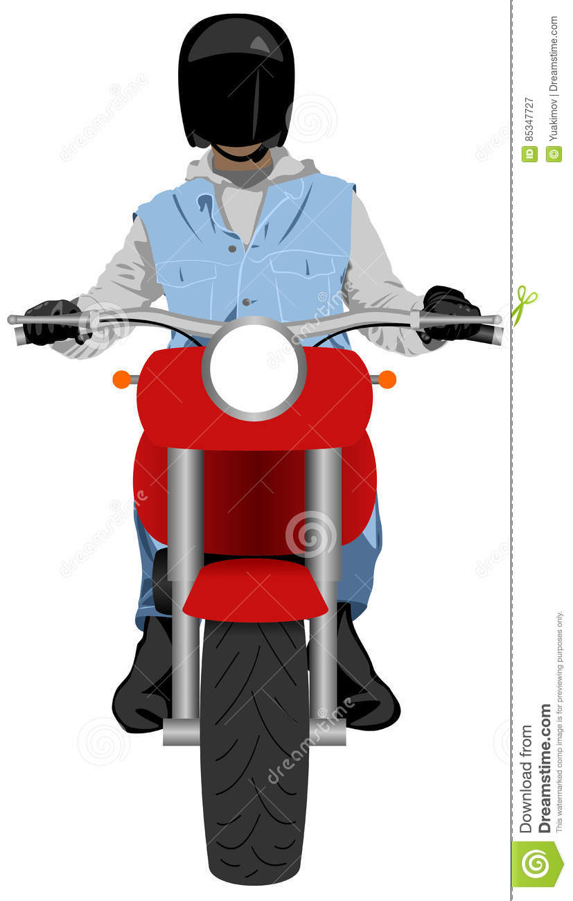 how to stop a a motorbike rider