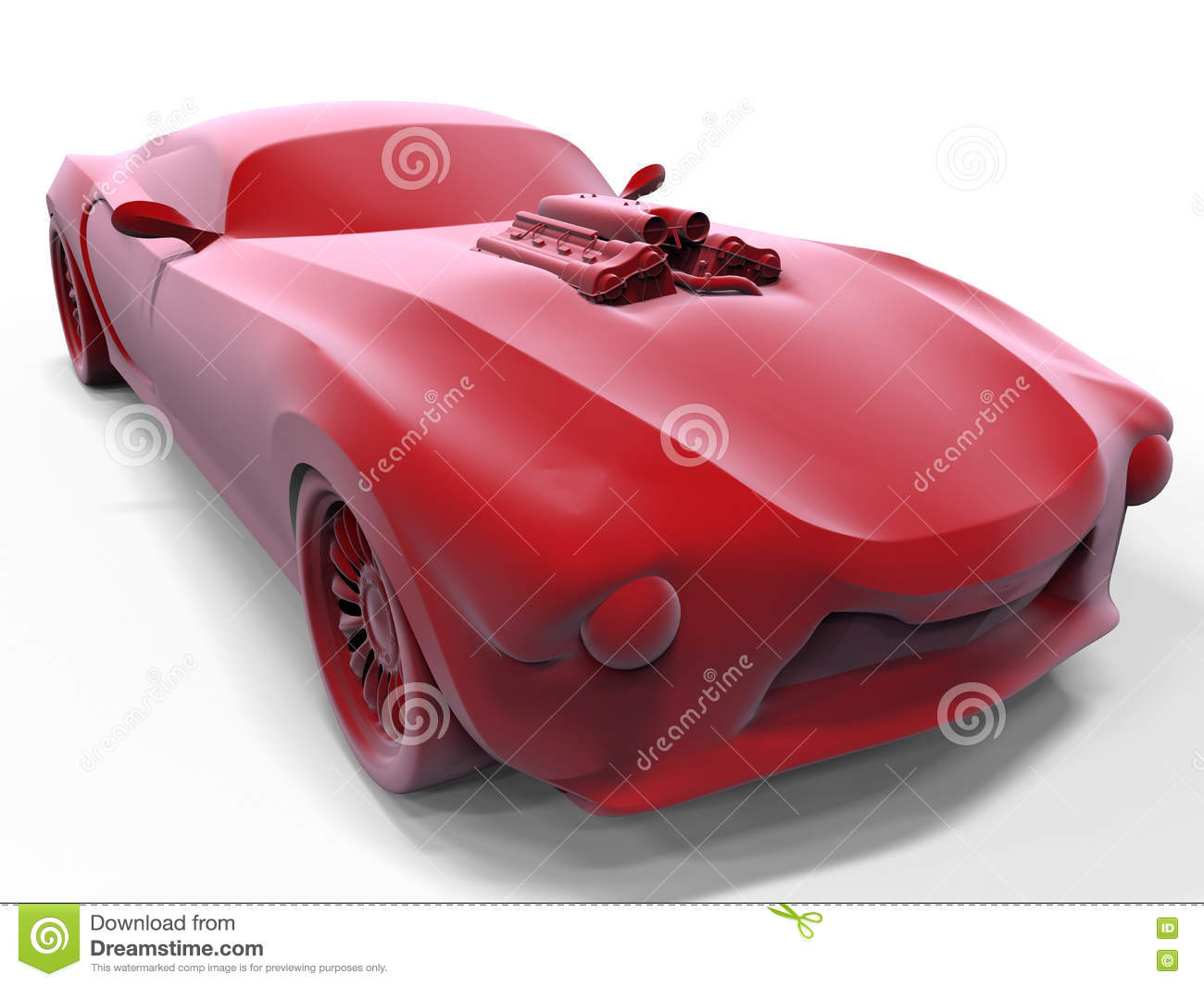 Classic Muscle Car Concept Stock Illustration Illustration Of