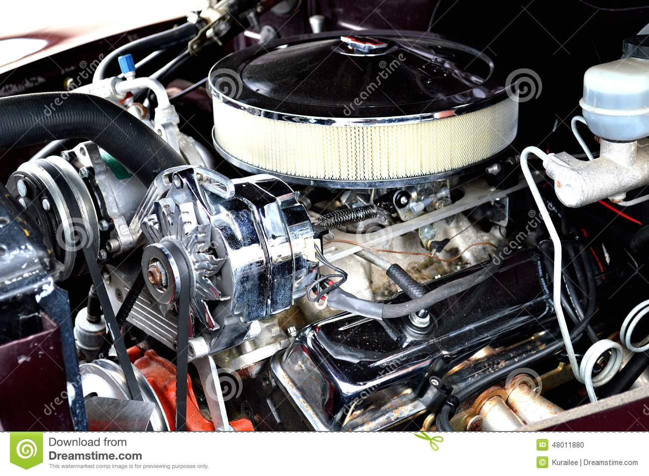 Classic Muscle Car Engine Stock Photo 48011880 Megapixl