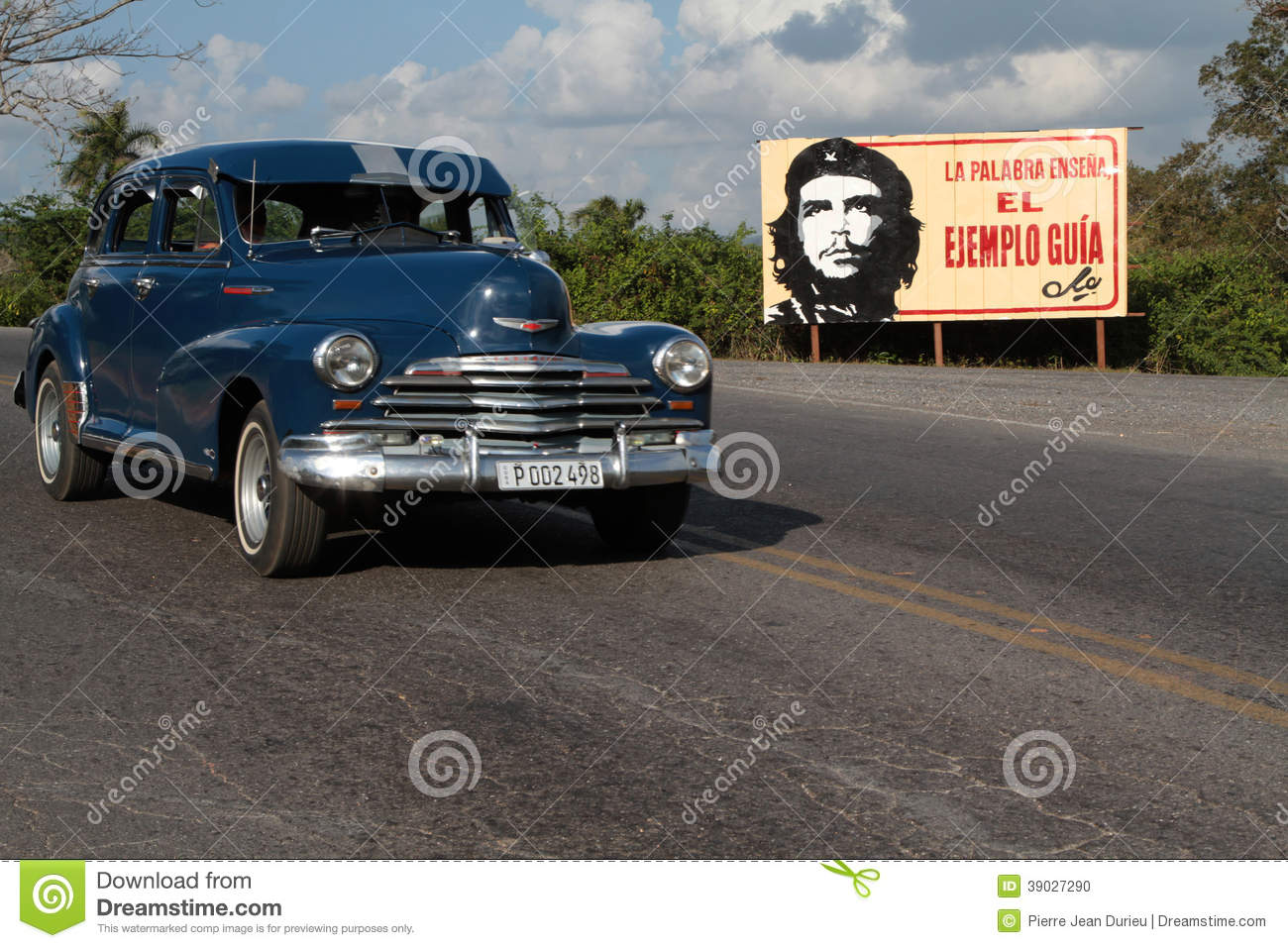 Classic Old American Car And Che Portrait Editorial Image Image