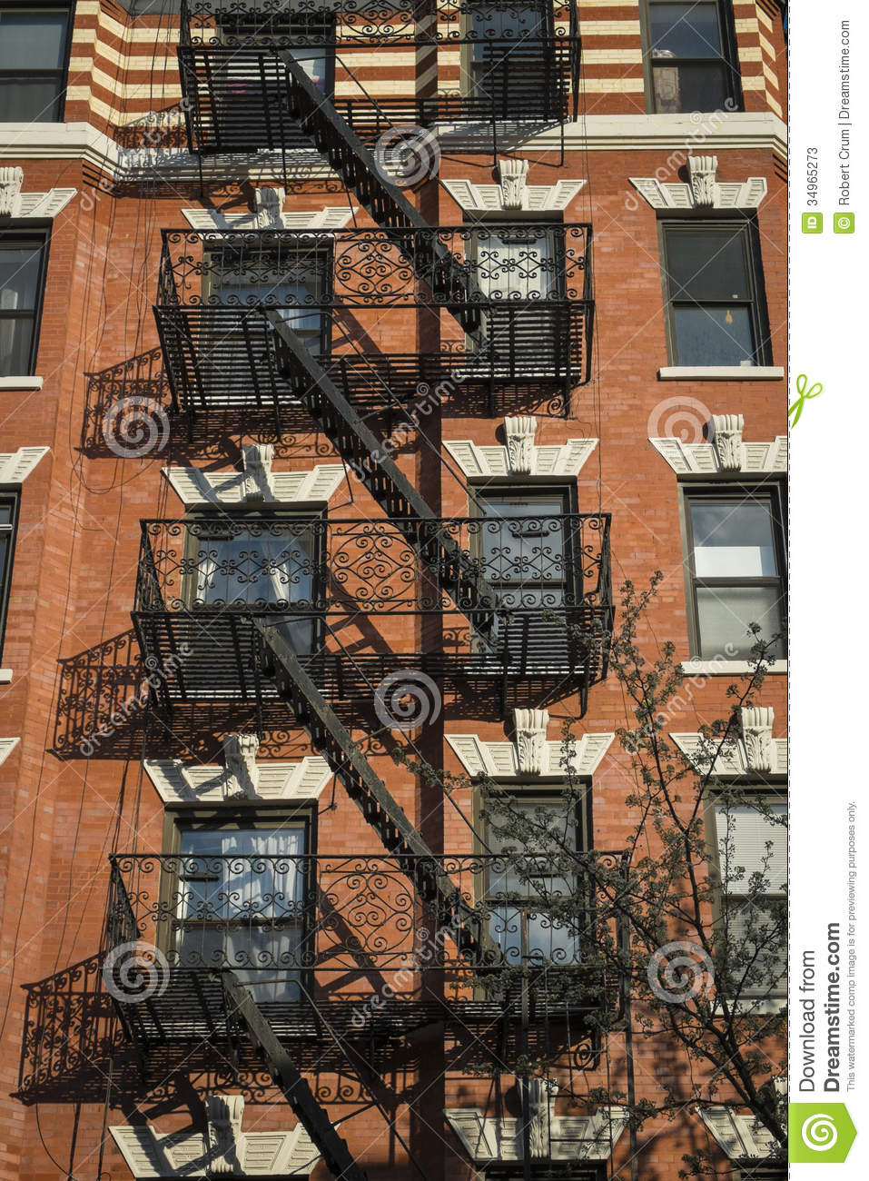 Classic Old Apartment Building, New York City