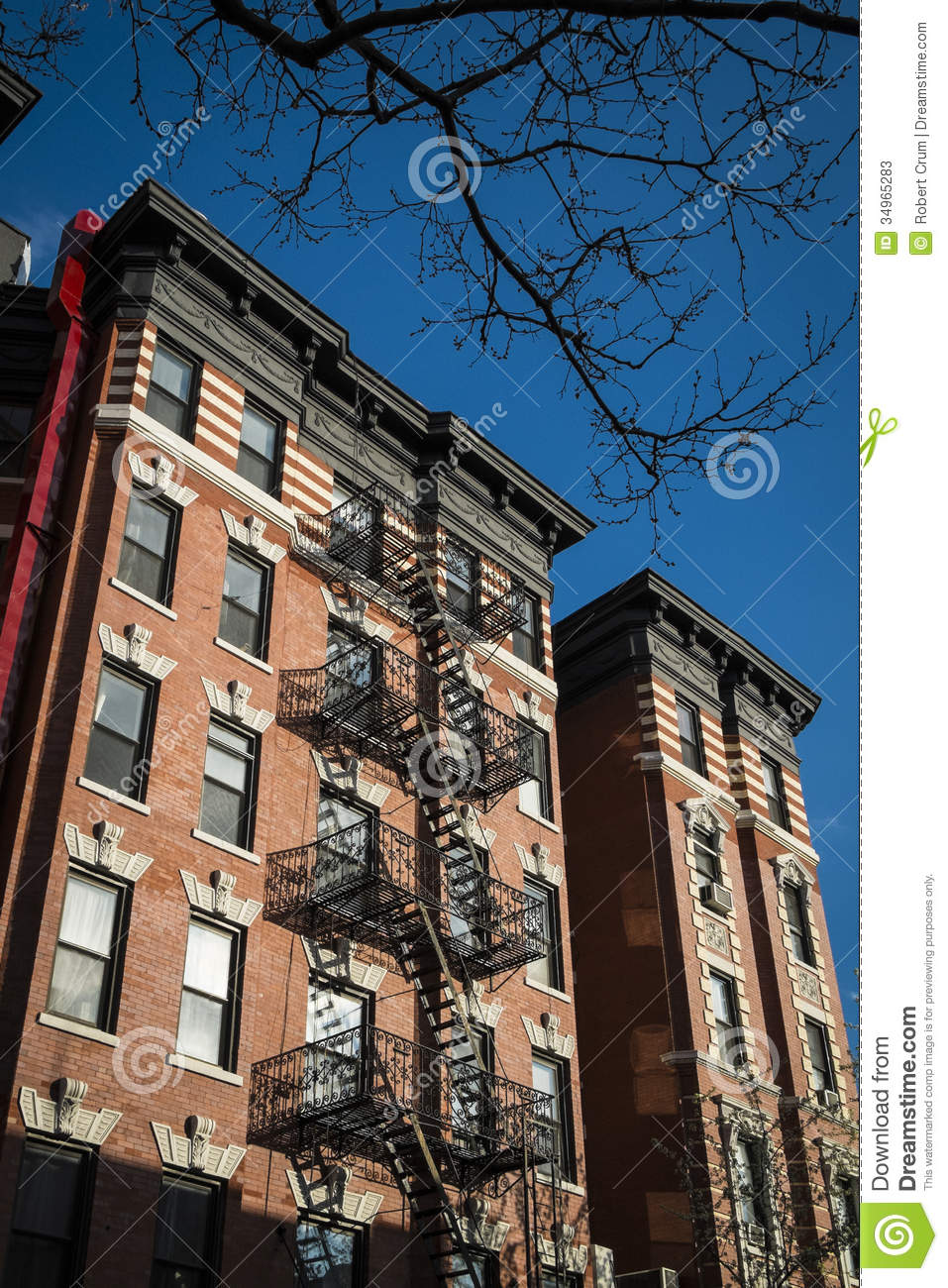 Classic Old Apartment Building, New York City Stock Image ...