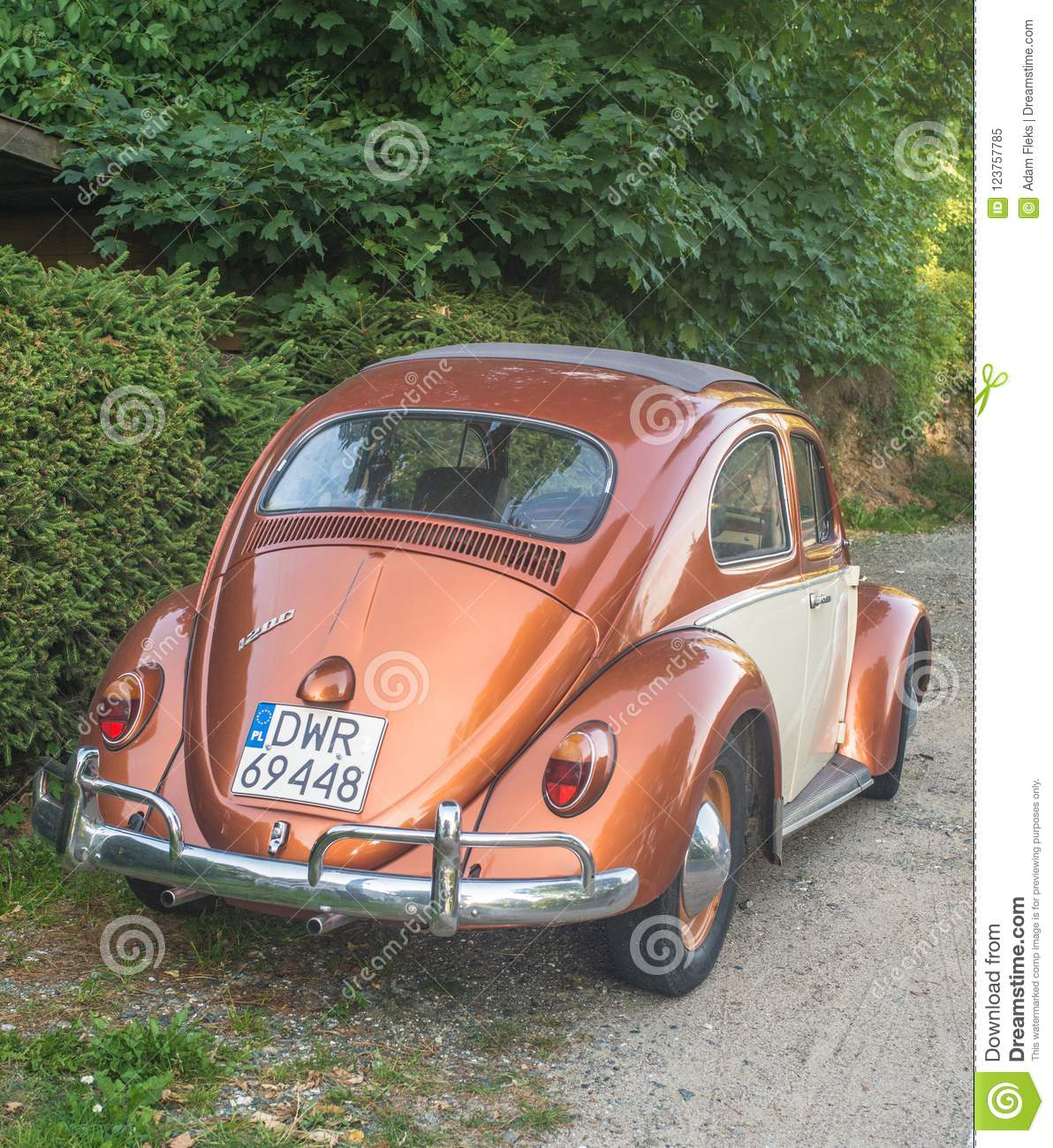 Vintage Volkswagen Beetle 1200 Editorial Image Image Of Chromed