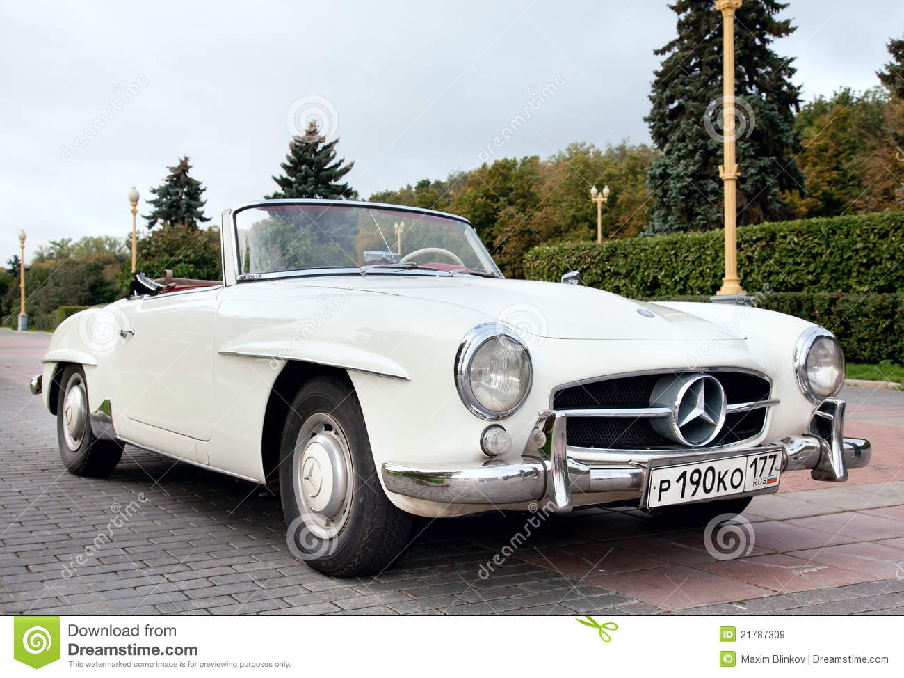Classic Old Car White Editorial Stock Image Image