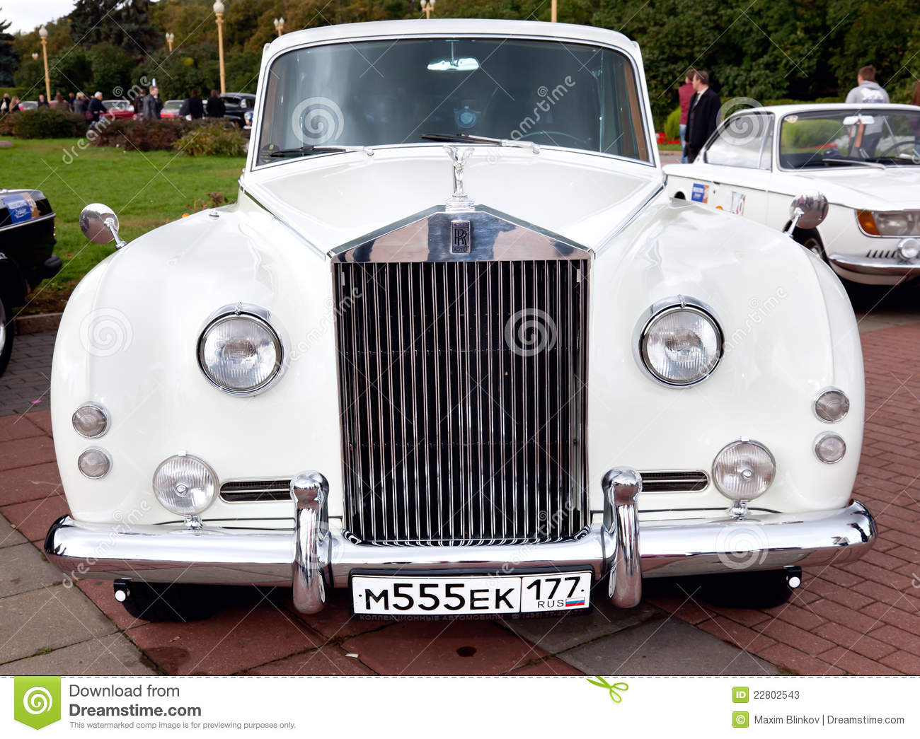Classic Old Car White Front View Editorial Stock Photo Image