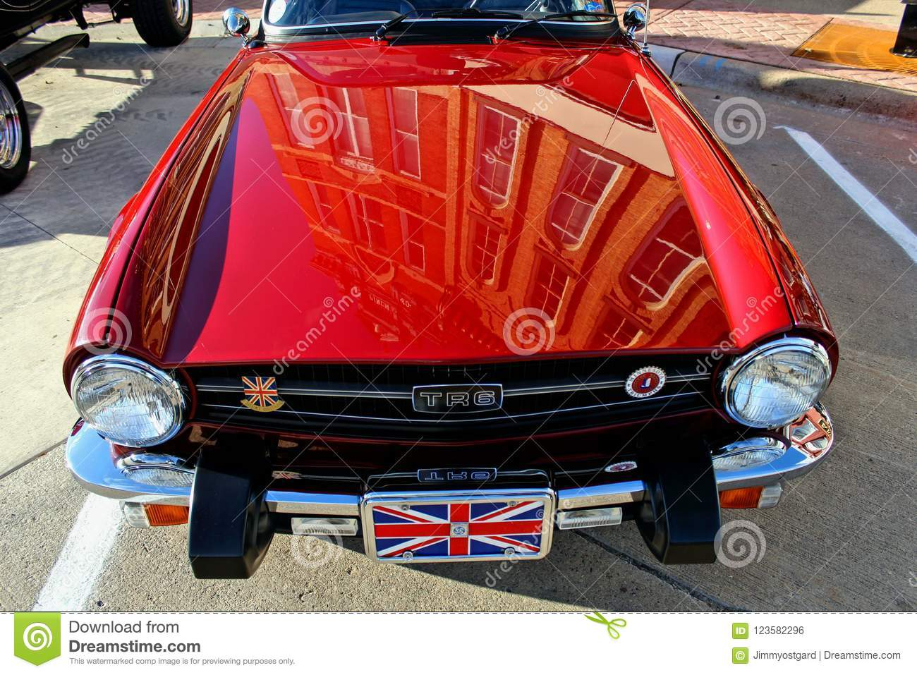 Classic Old MG Car Close Up Editorial Photo - Image of