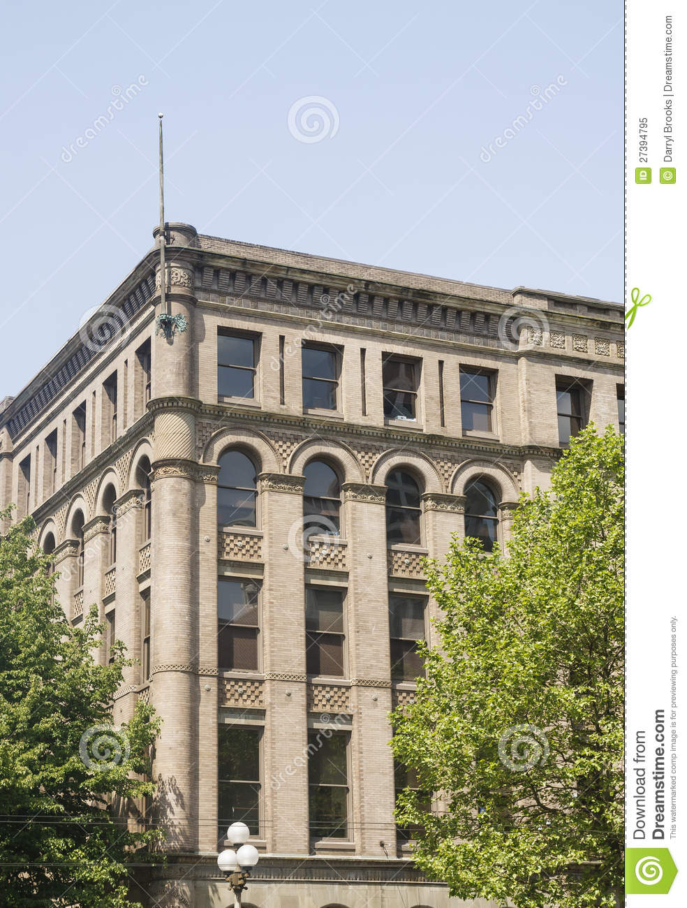 Classic Old Office Building In Seattle Stock Image - Image