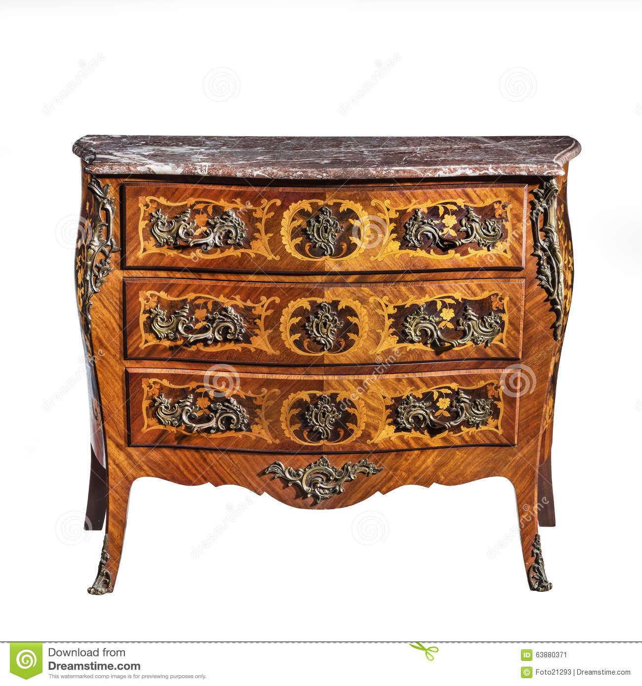 classic old original vintage wooden chest bureau commode stock photo image 63880371. Black Bedroom Furniture Sets. Home Design Ideas