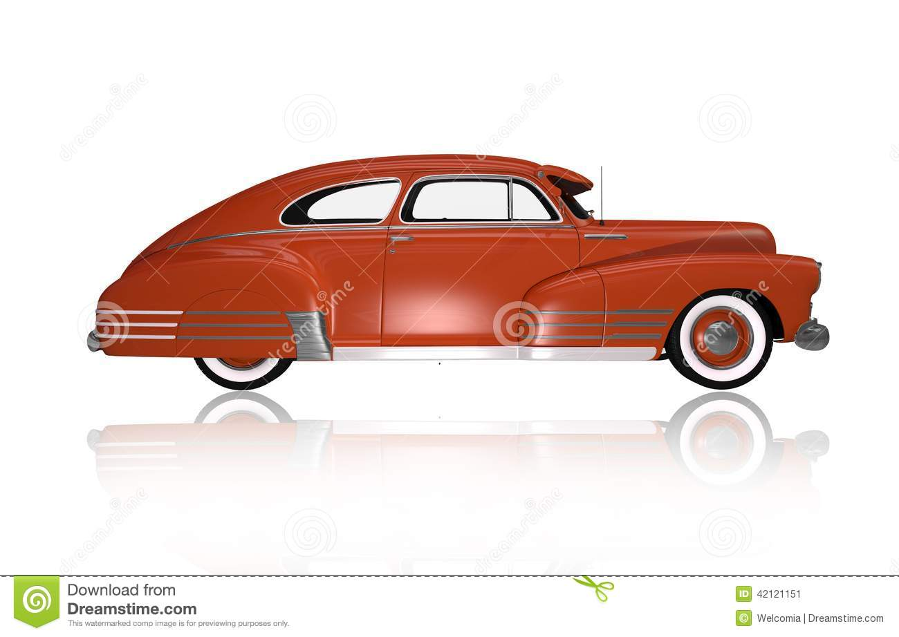 Classic Oldtimer Side View Stock Illustration Image