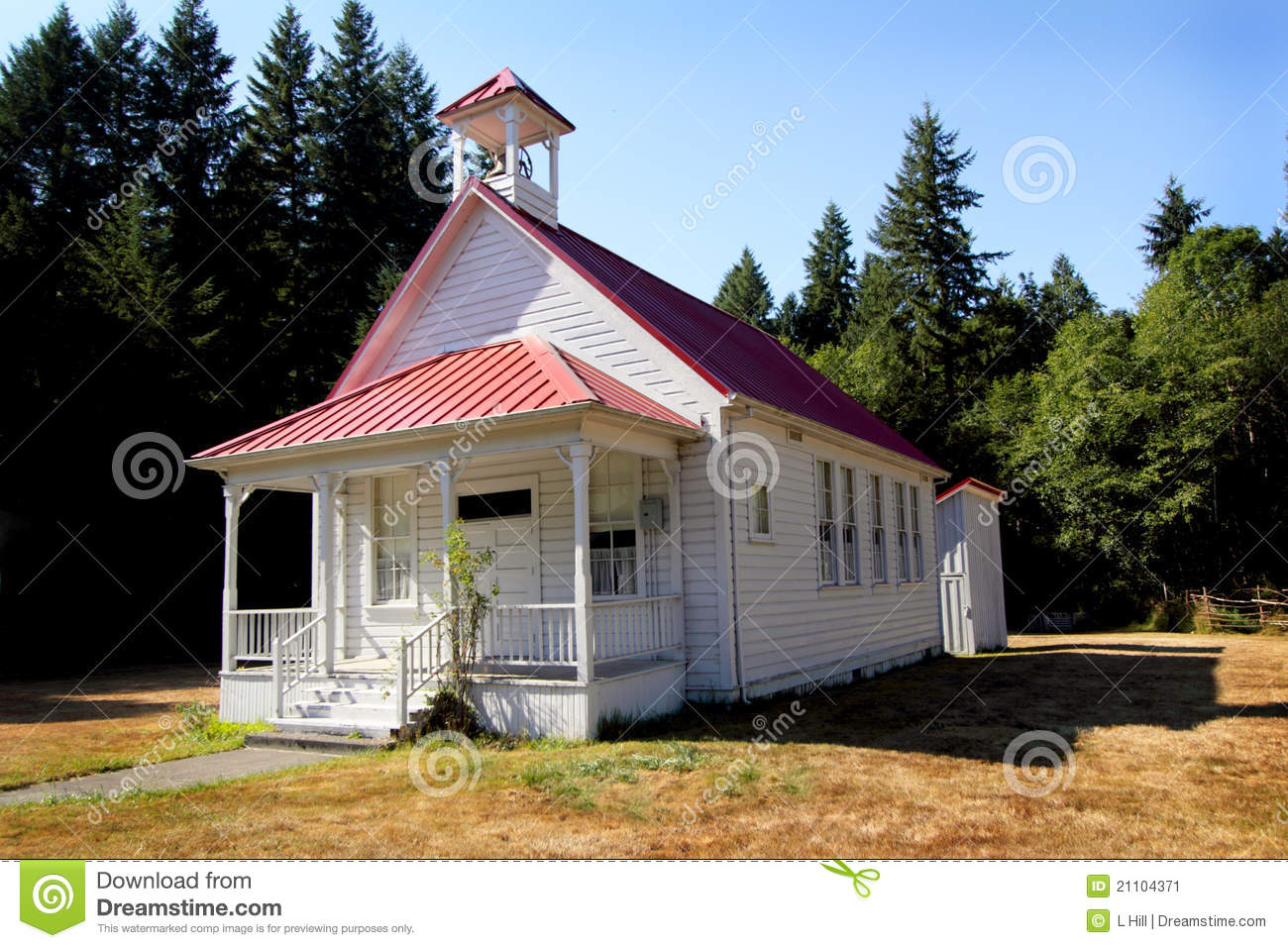 Classic one room school house stock image image 21104371 for Building a one room house