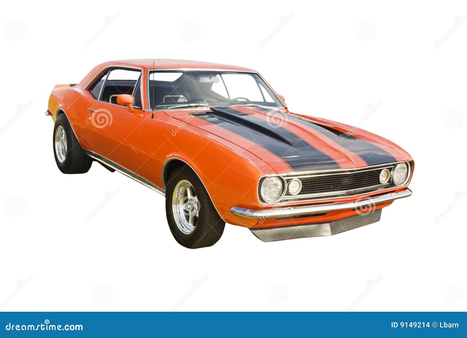 Classic Orange Muscle Car Stock Photo Image Of Sport 9149214