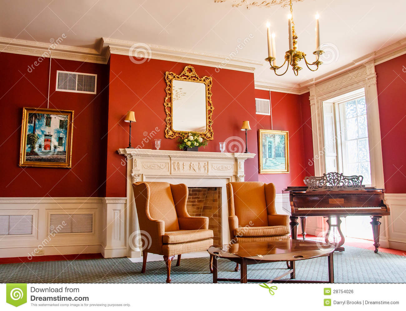 Classic parlor with piano royalty free stock image image for Classic house piano