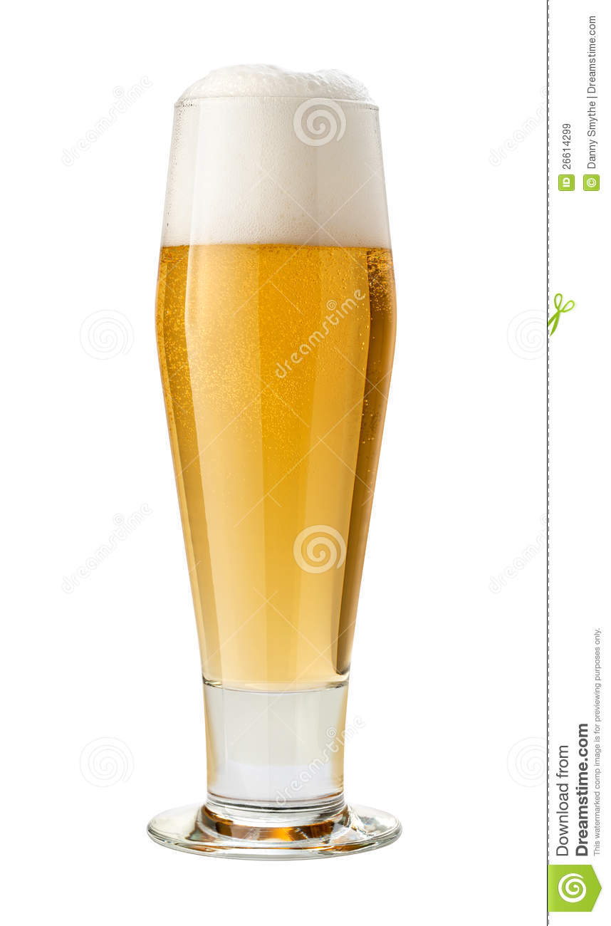 Classic Pilsner (Beer) Isolated with clipping path