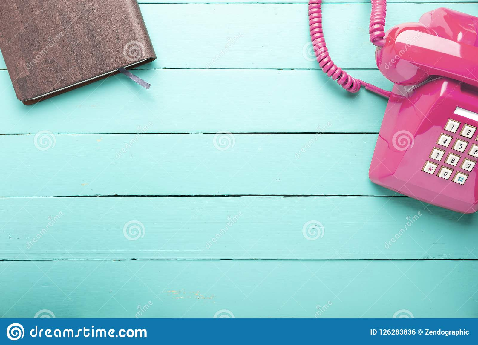 Classic pink telephone