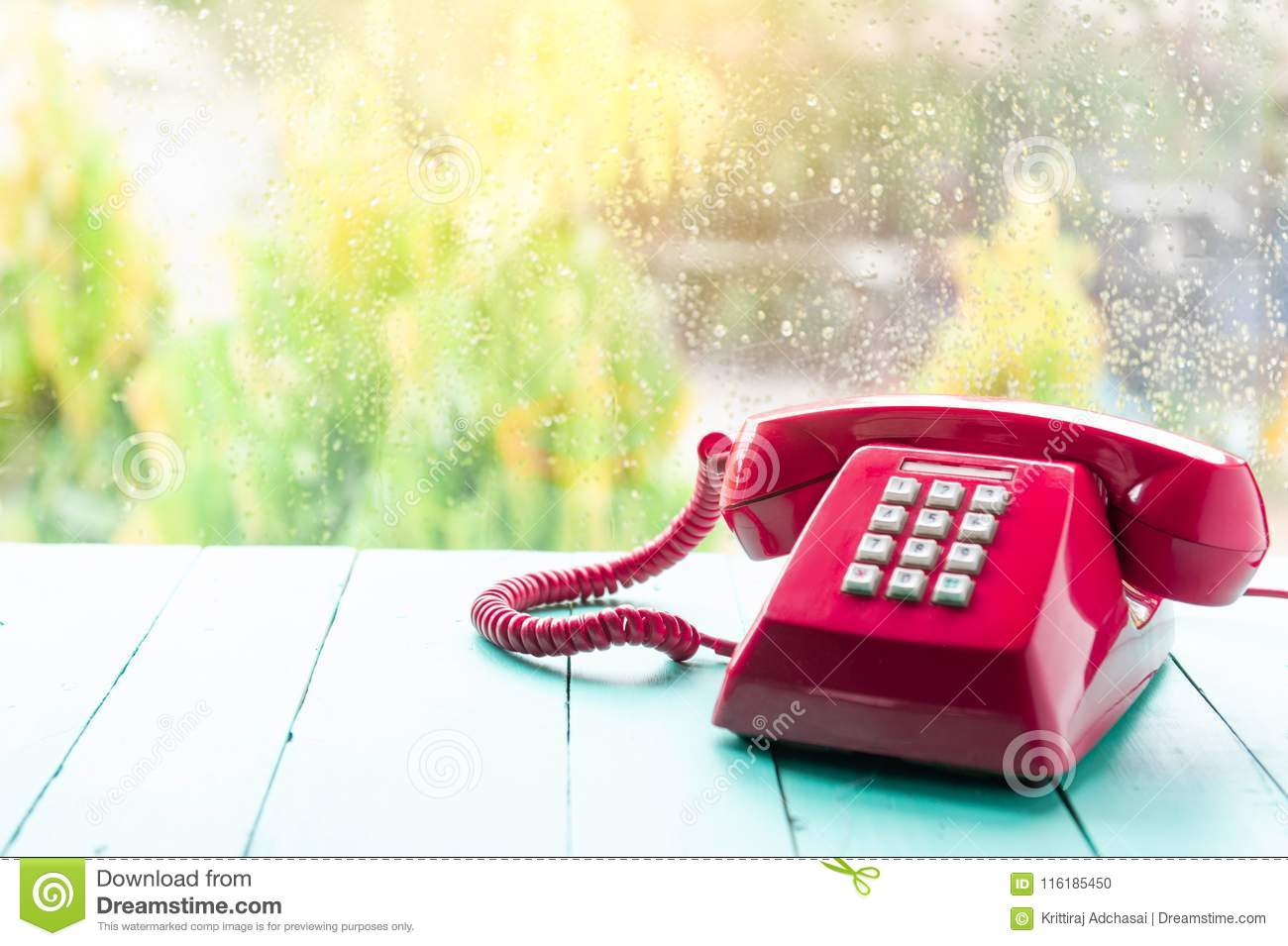 Classic pink telephone receiver