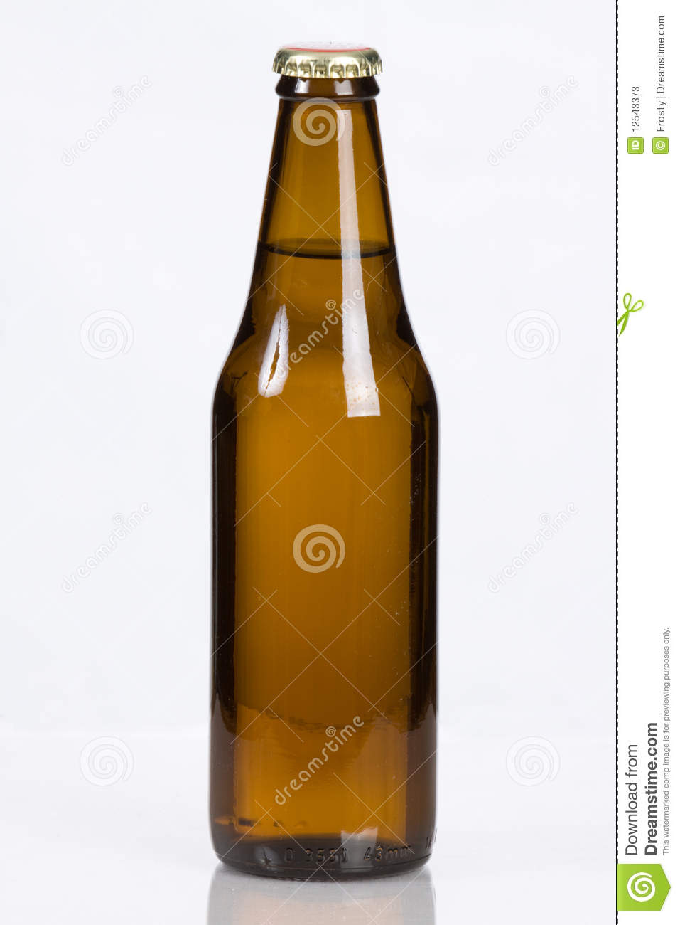 Beer In A Plain Glass Bottle