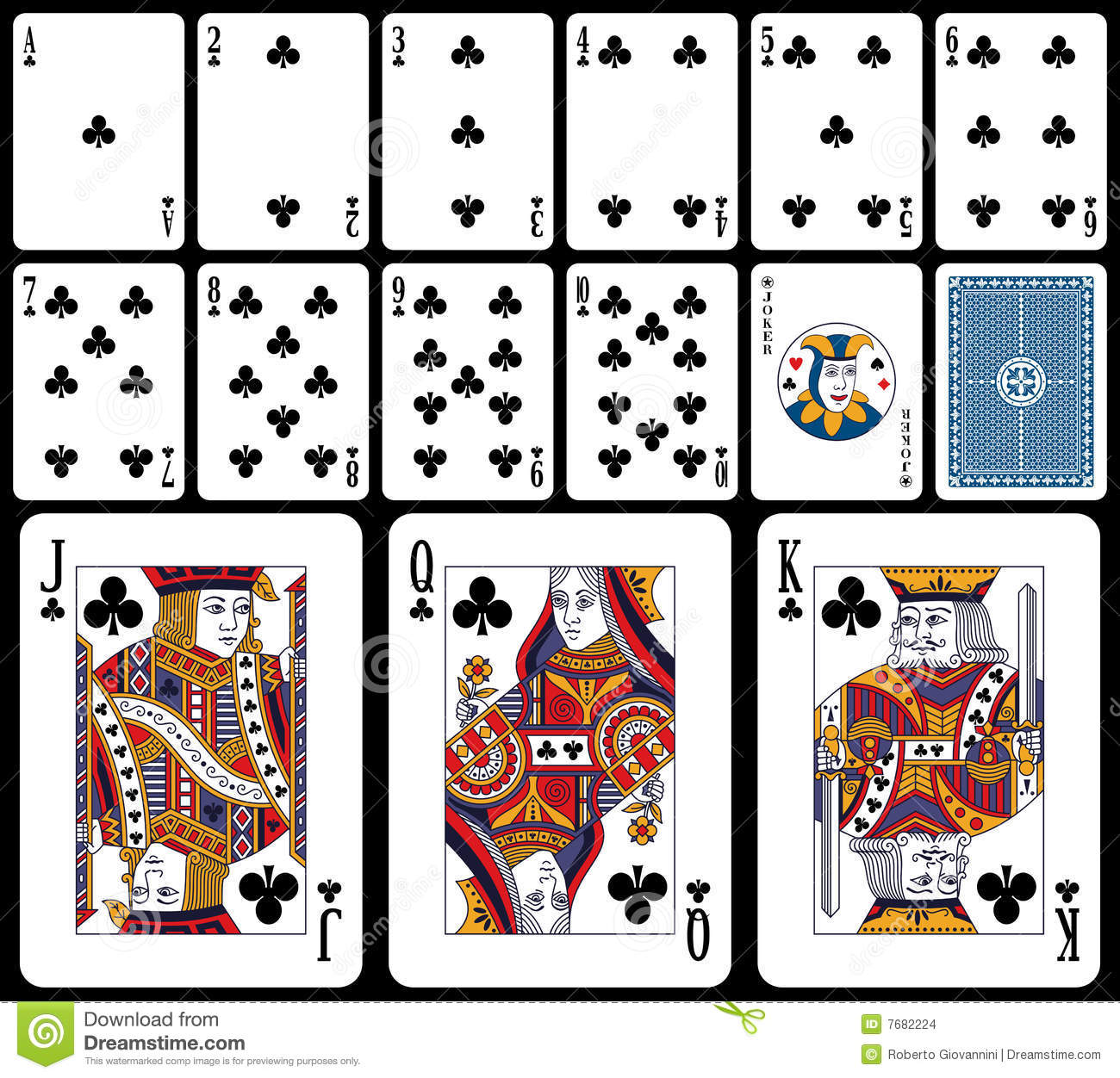 Classic Playing Cards - Clubs