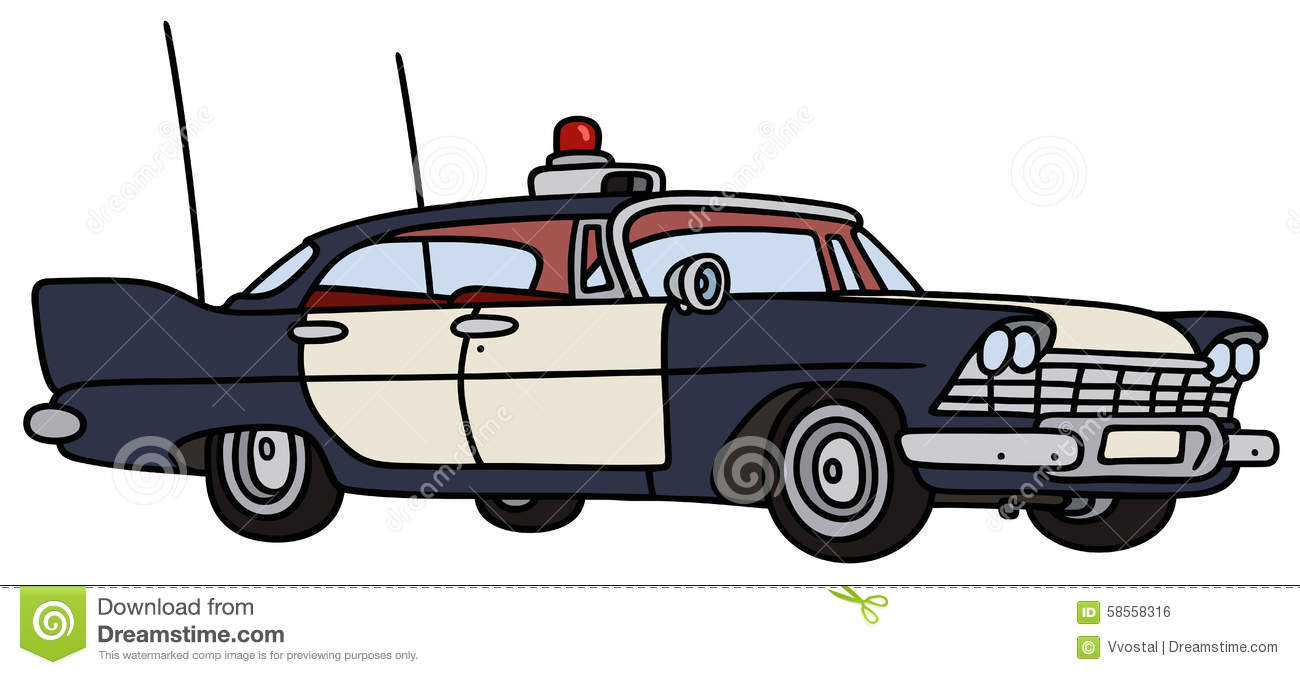 Classic Police Car Stock Vector Illustration Of Classic 58558316