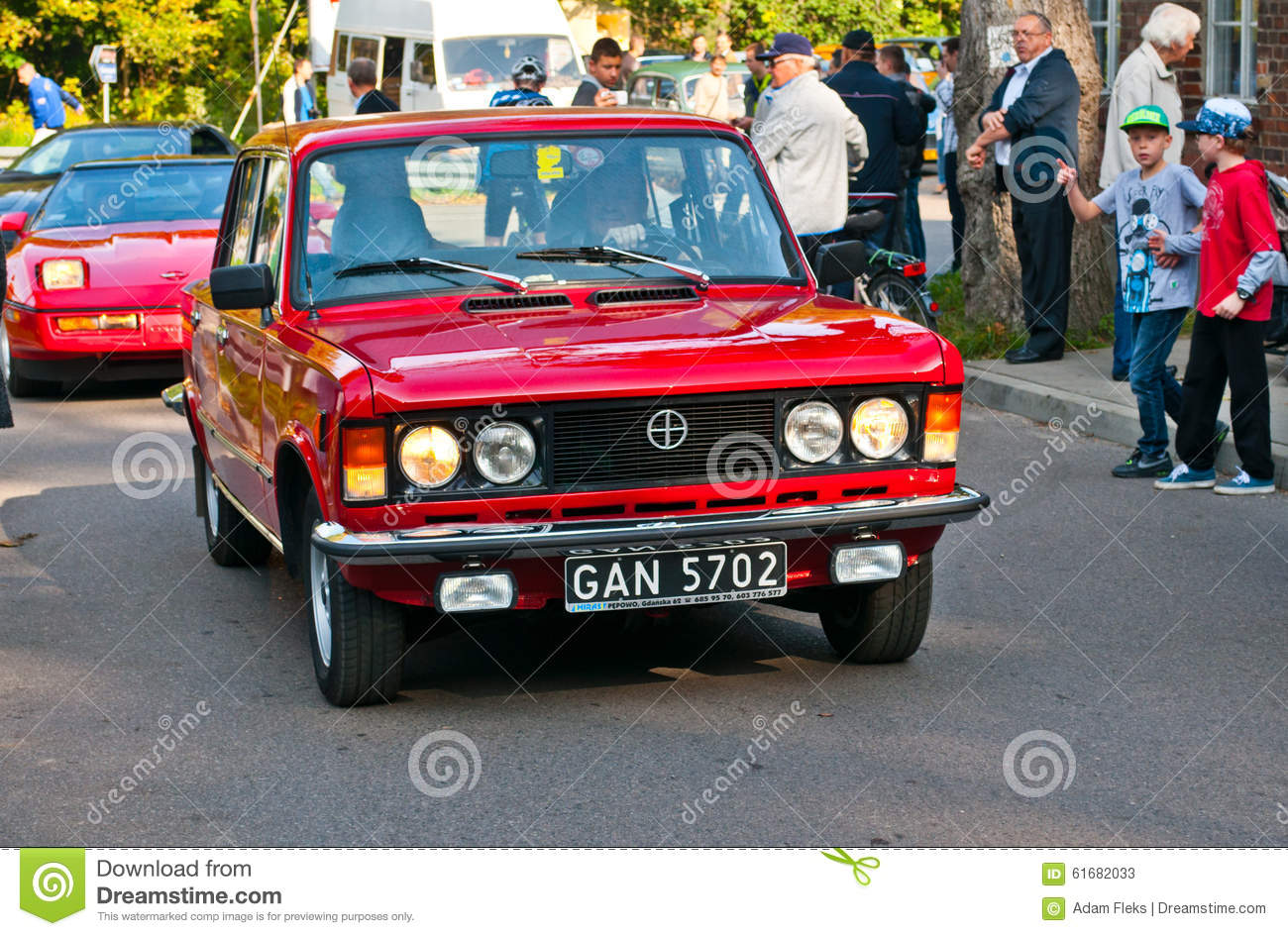 old classic car polski fiat 126p on a street parade editorial photo 62150021. Black Bedroom Furniture Sets. Home Design Ideas