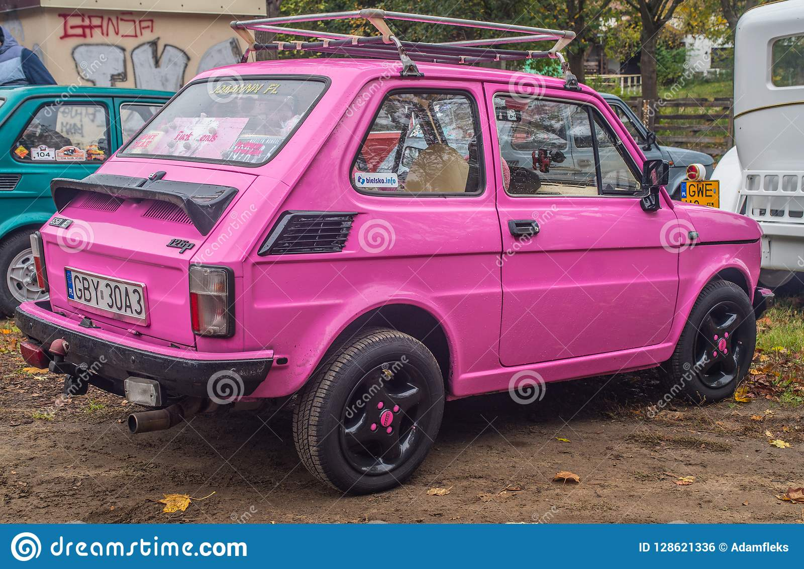 Classic Polish Car Polski Fiat 126p In Pink Editorial Photo  Image of colors, clean: 128621336