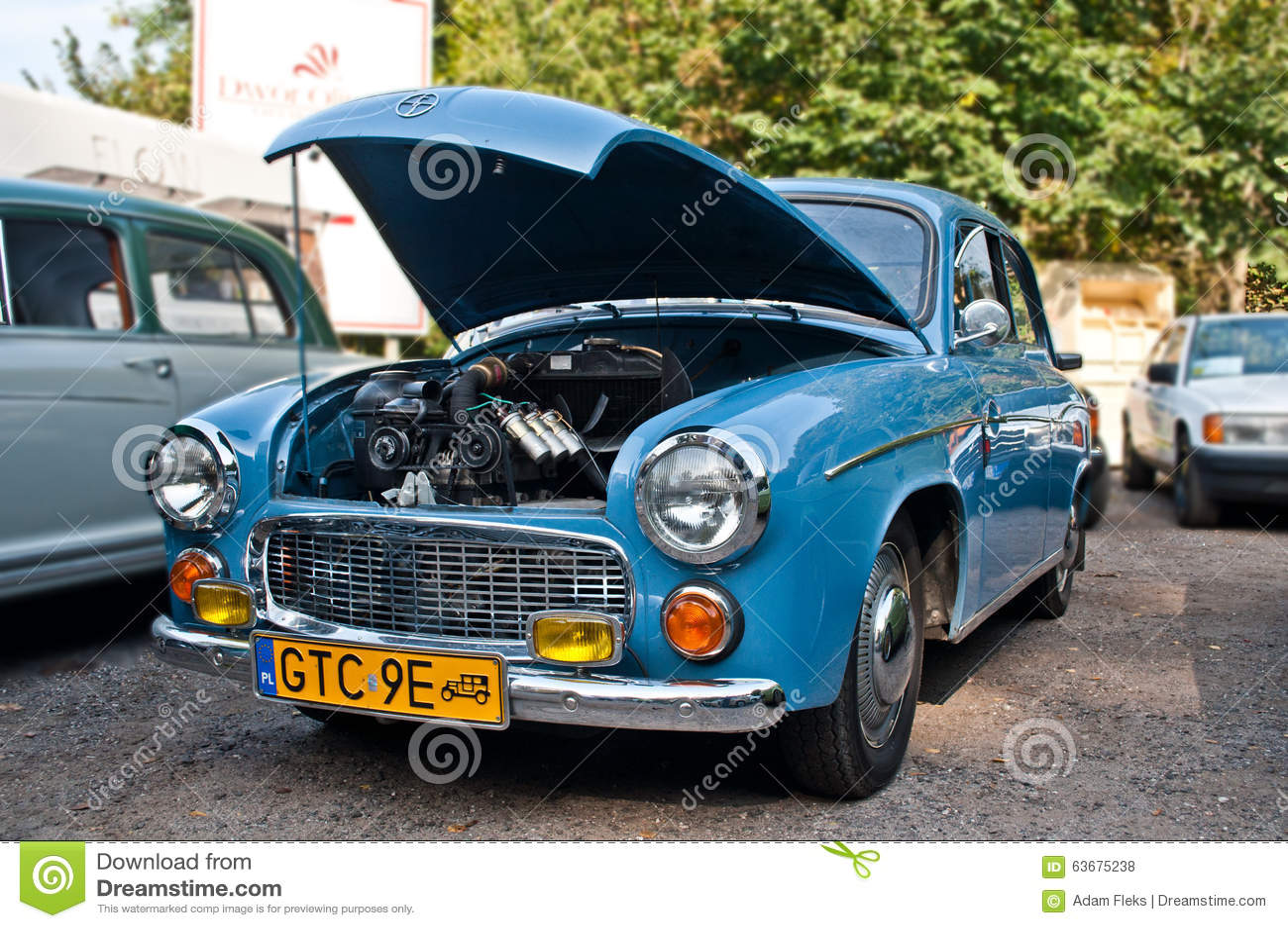 classic polish car syrena 104 editorial stock photo image 63675238. Black Bedroom Furniture Sets. Home Design Ideas