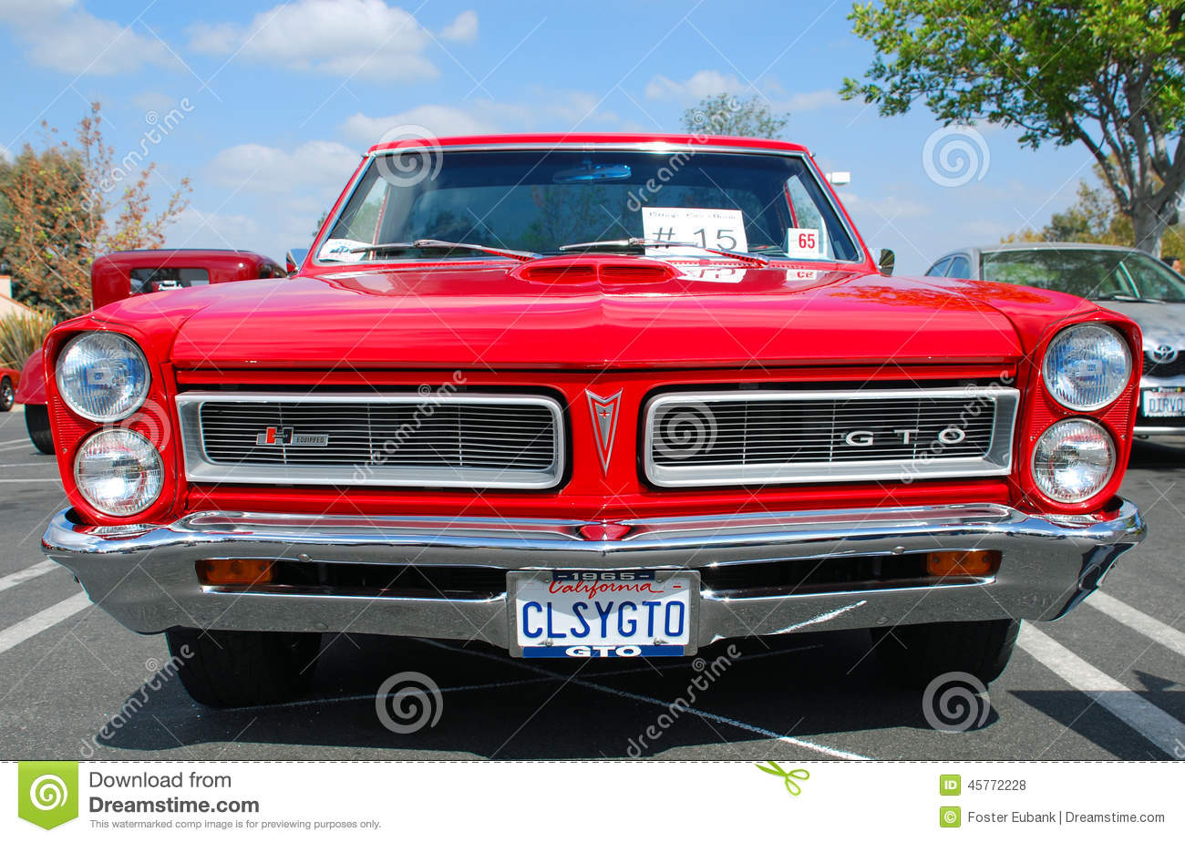 Classic Pontiac GTO Muscle Car Editorial Stock Photo - Image of ...