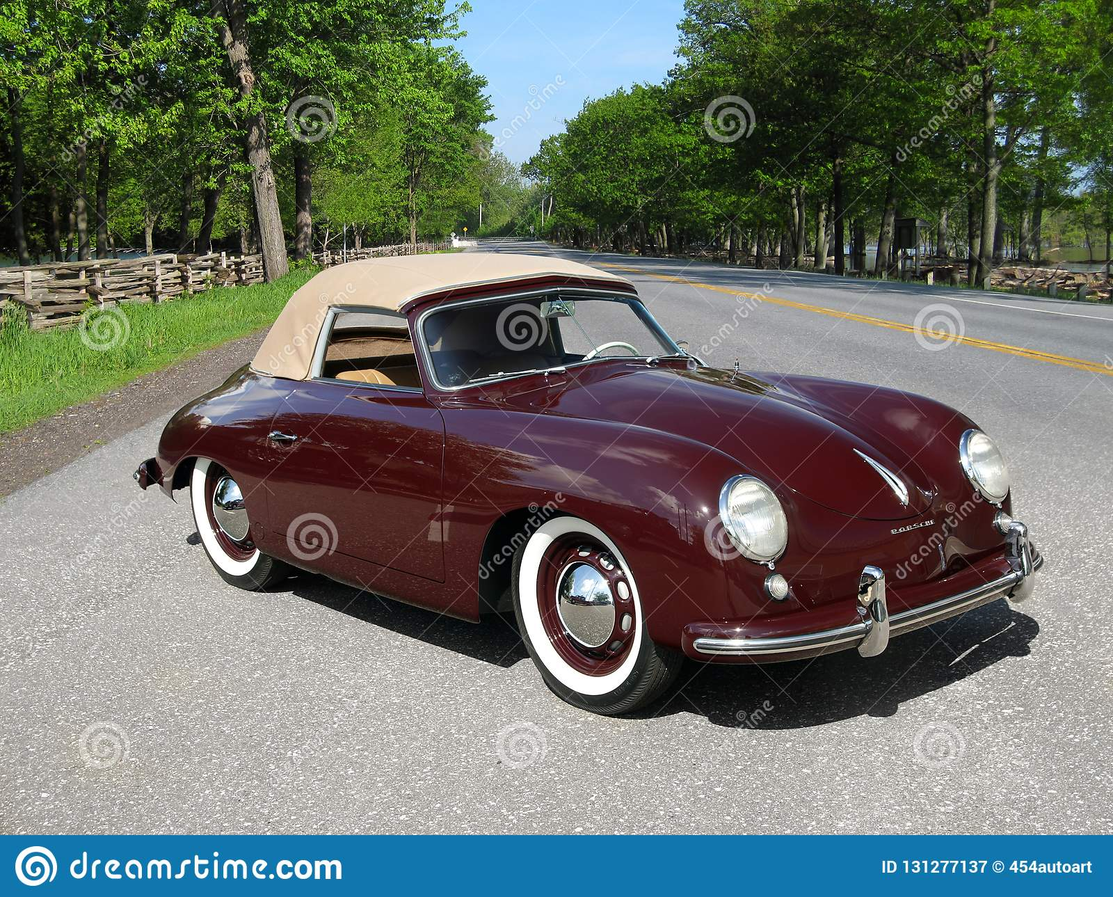 Classic Porsche 356 Convertible On A Country Road Editorial Photography Image Of Retro Showing 131277137