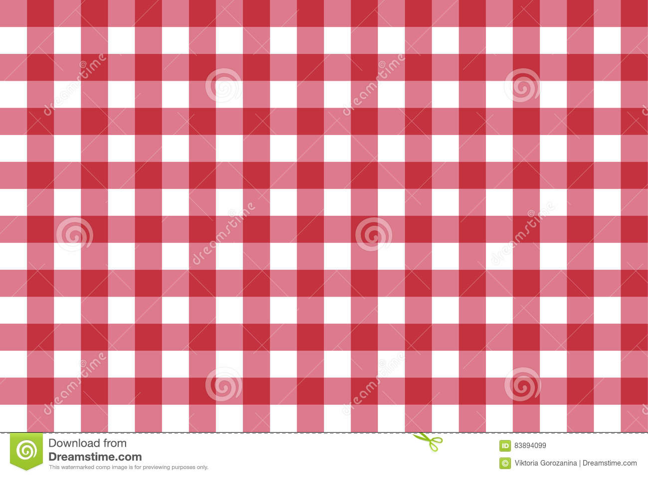 Classic Red Checkerboard Chequer Seamless Pattern For Textile Paper Print Vector Illustration
